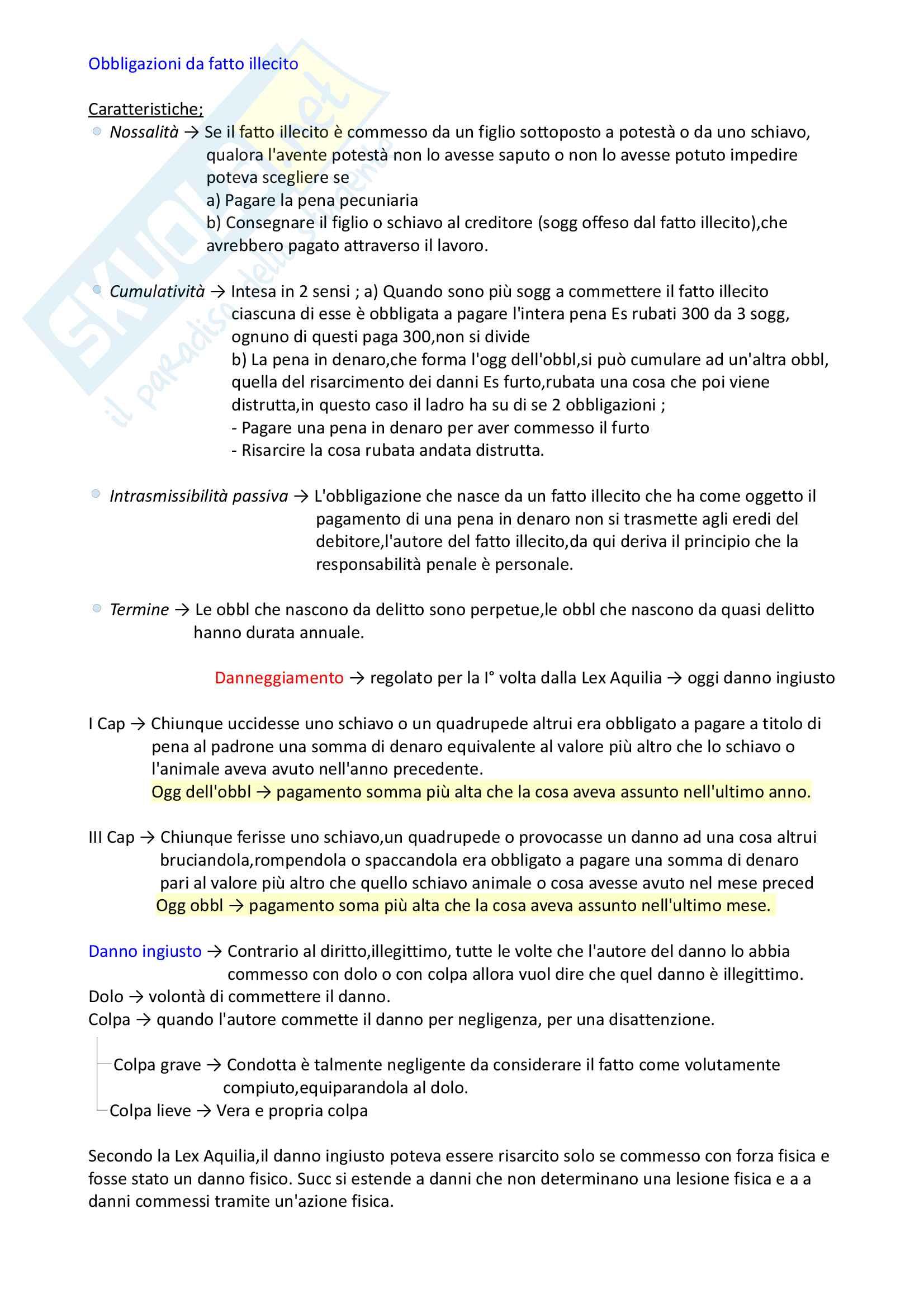 Riassunto esame storia diritto romano privato e pubblico, prof. Petrucci-Procchi, libro consigliato Nozioni elementari di Diritto, Romano Petrucci Pag. 21