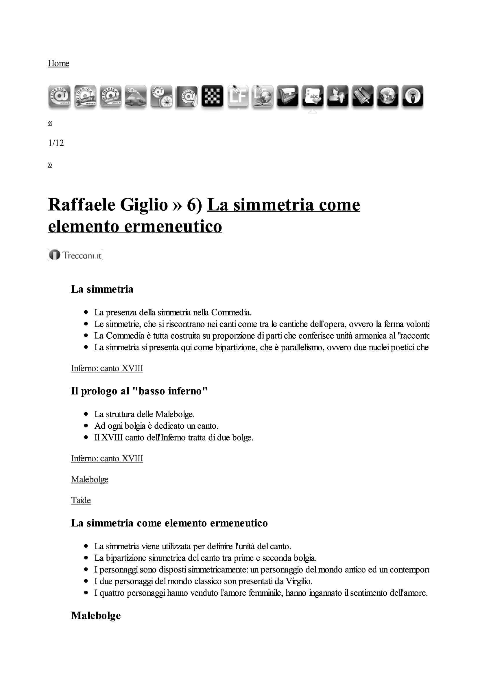 Dante: simmetria come elemento ermeneutico