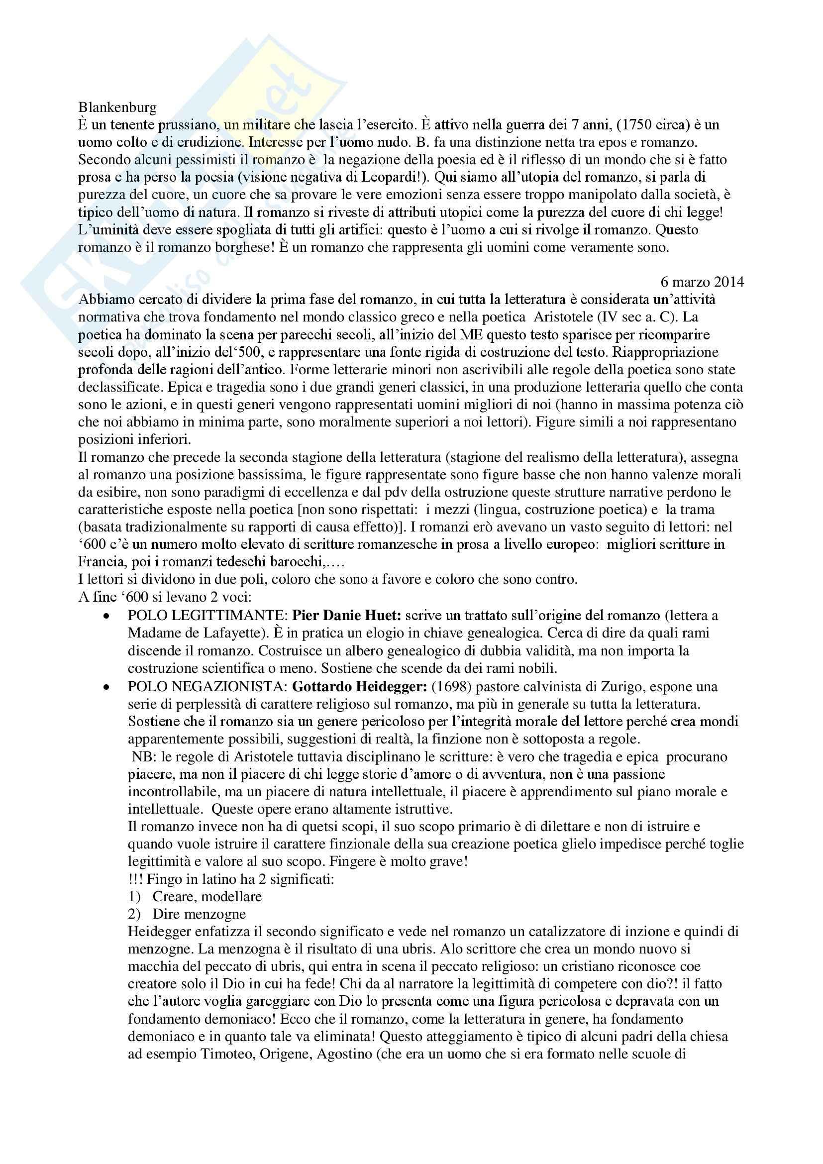 Lezioni, Storia della critica letteraria Pag. 6