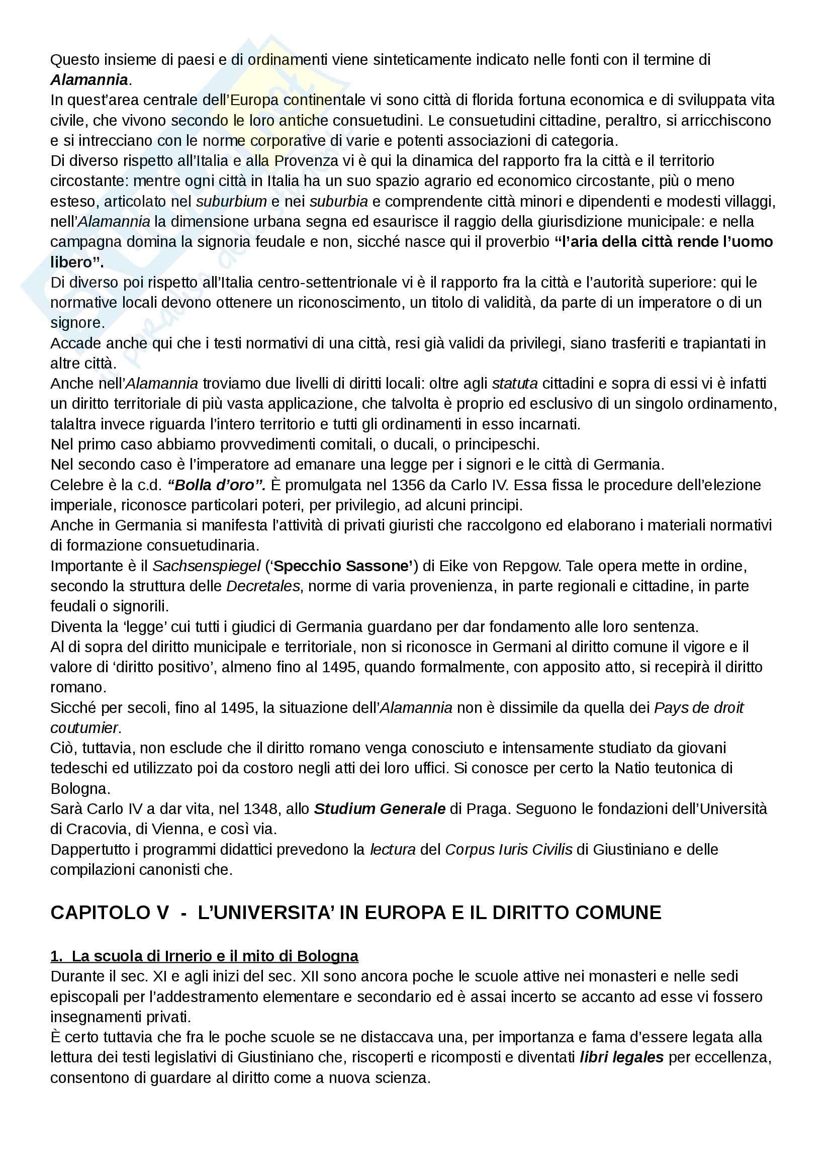 Riassunto esame Diritto, prof. Cavina, libro consigliato L'Europa del diritto comune, Bellomo Pag. 16