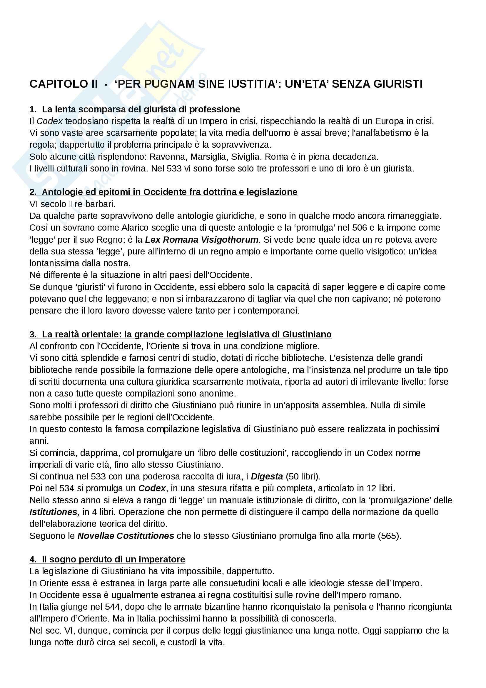 Riassunto esame Diritto, prof. Cavina, libro consigliato L'Europa del diritto comune, Bellomo Pag. 2