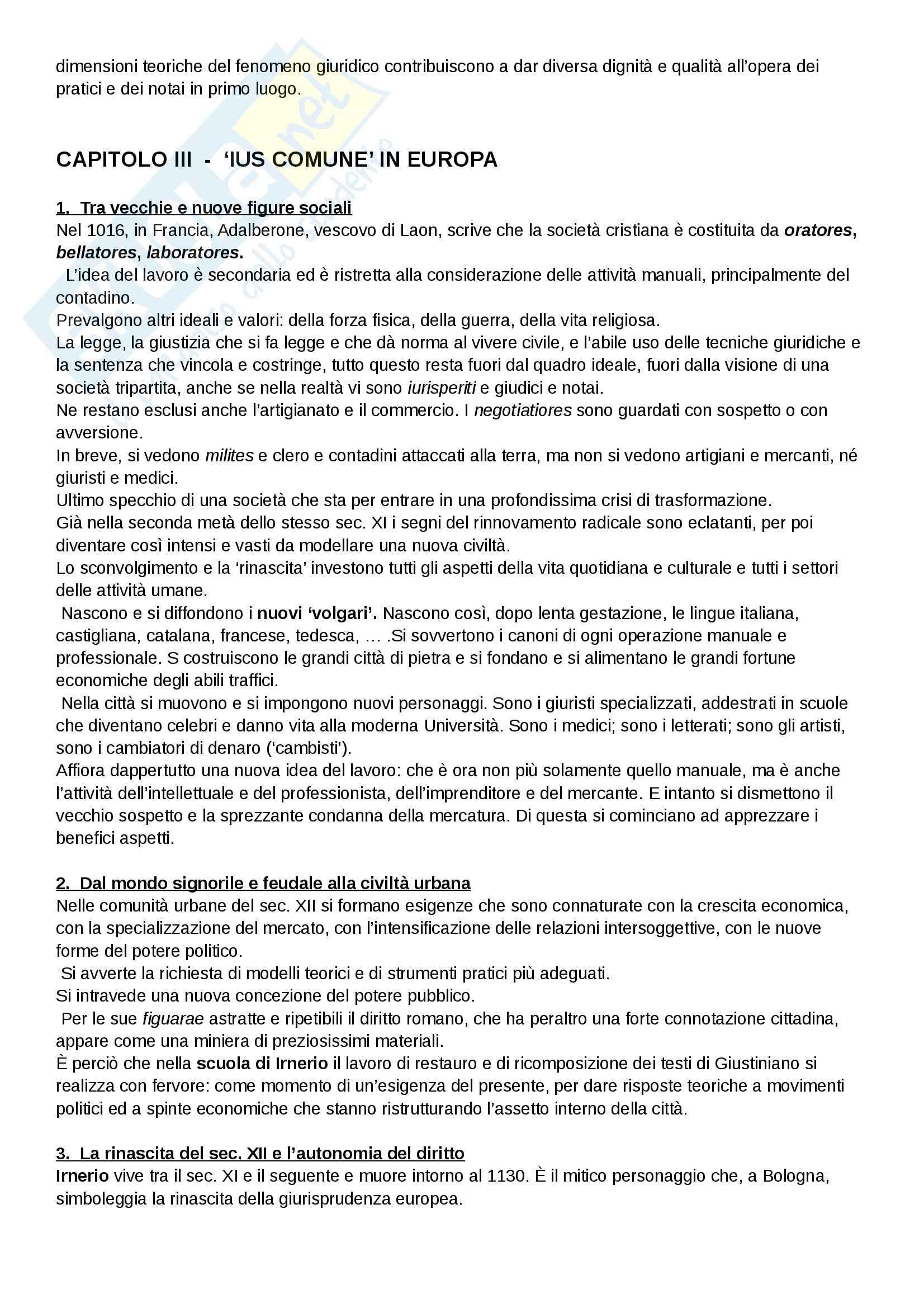 Riassunto esame Diritto, prof. Cavina, libro consigliato L'Europa del diritto comune, Bellomo Pag. 6