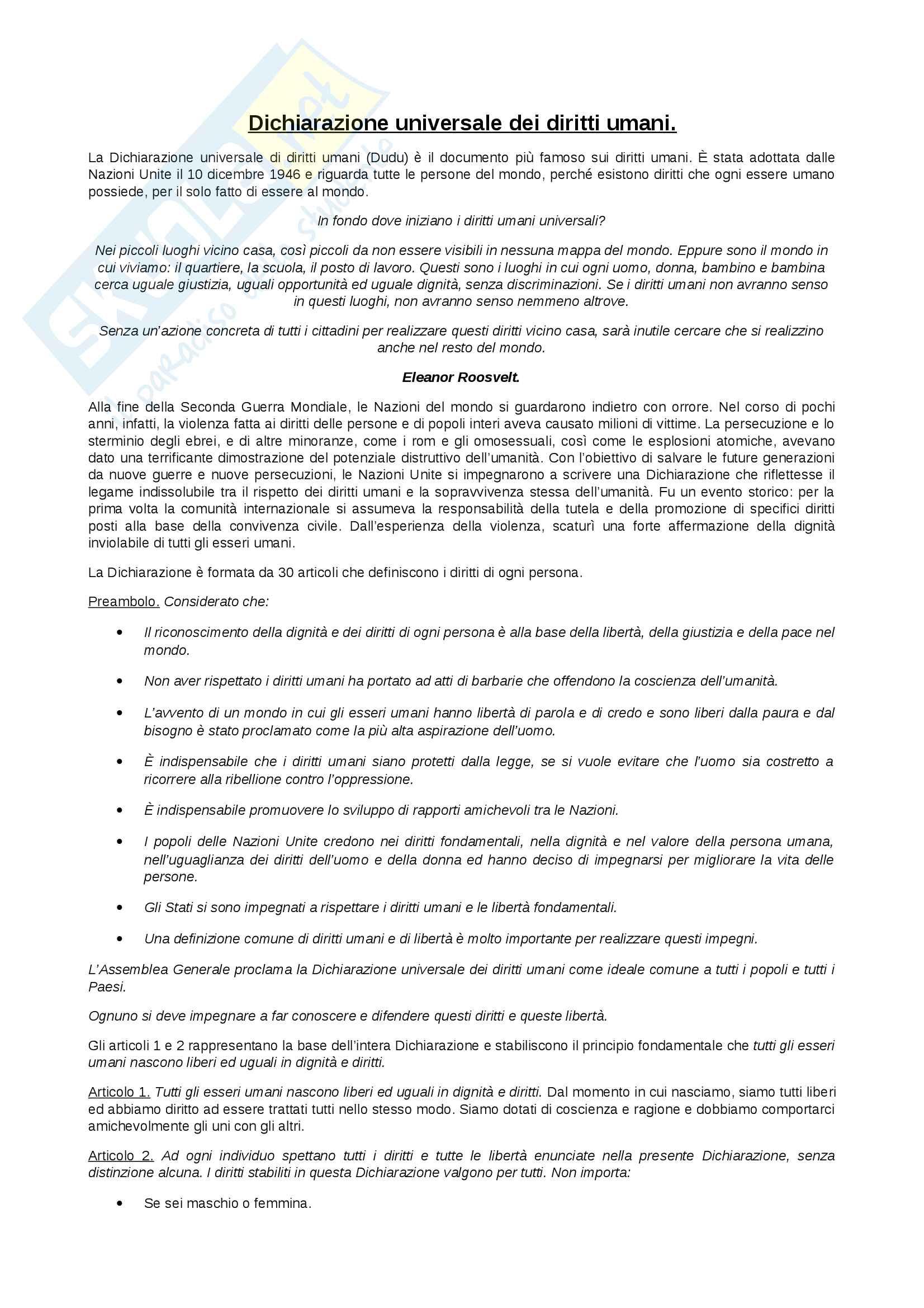 Commento alla Dichiarazione universale dei diritti umani