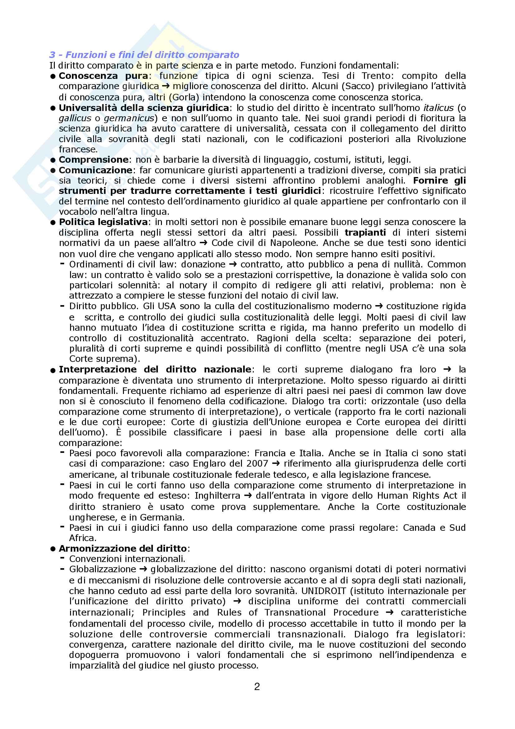 Riassunto esame sistemi giuridici comparati, prof. Sonelli, libro consigliato La tradizione giuridica occidentale, Varano, Barsotti Pag. 2
