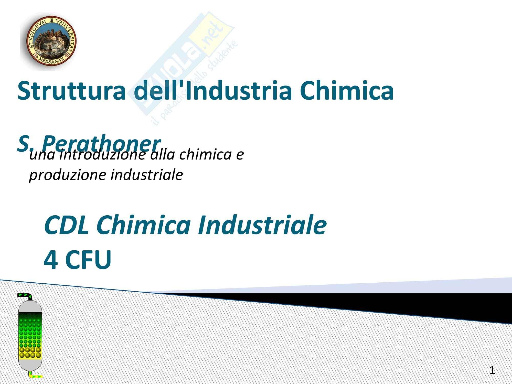 Chimica industriale - struttura dell'industria chimica