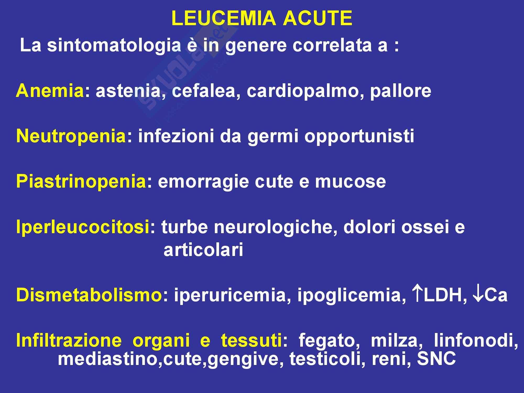 Leucemie - Mieloidi e acute Pag. 16