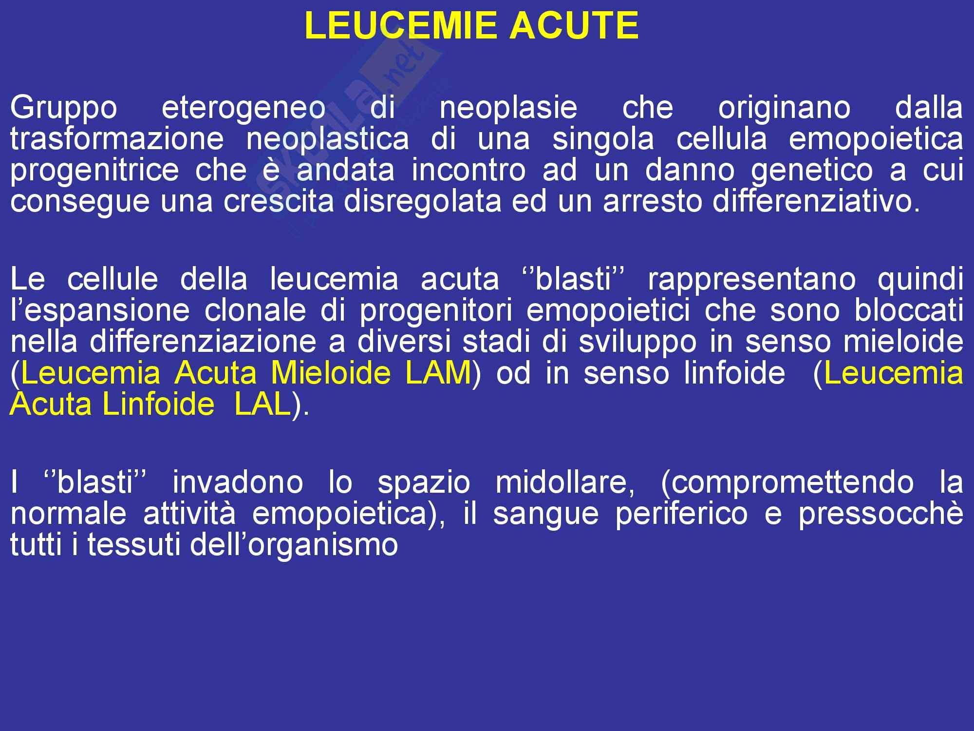 Leucemie - Mieloidi e acute Pag. 2