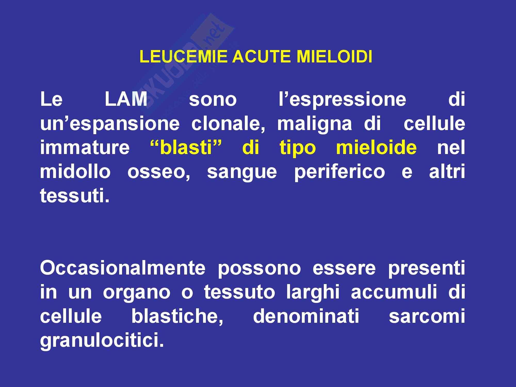 Leucemie - Mieloidi e acute Pag. 6