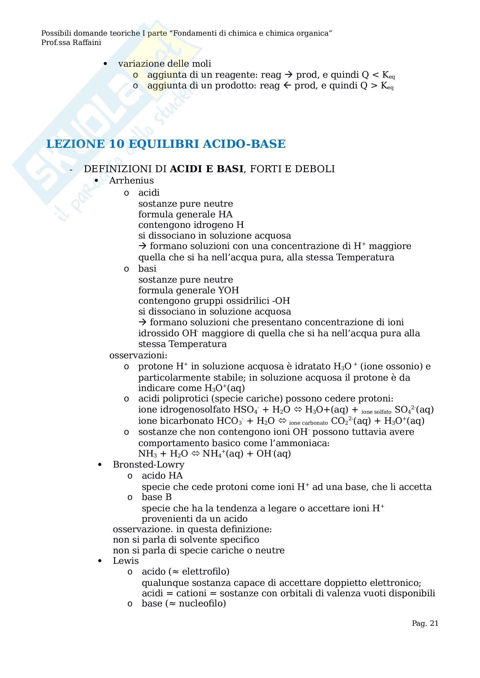 Riassunto esame Chimica Generale Pag. 21