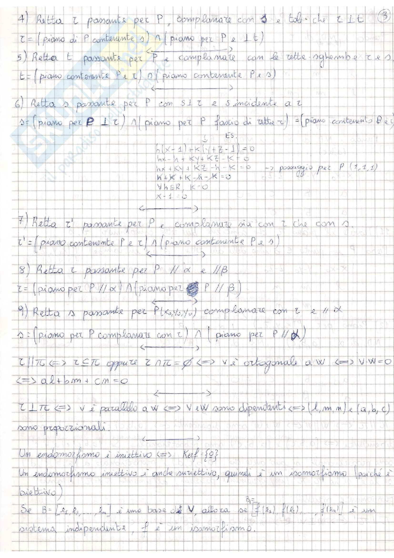 appunto D. Olanda Algebra e Geometria