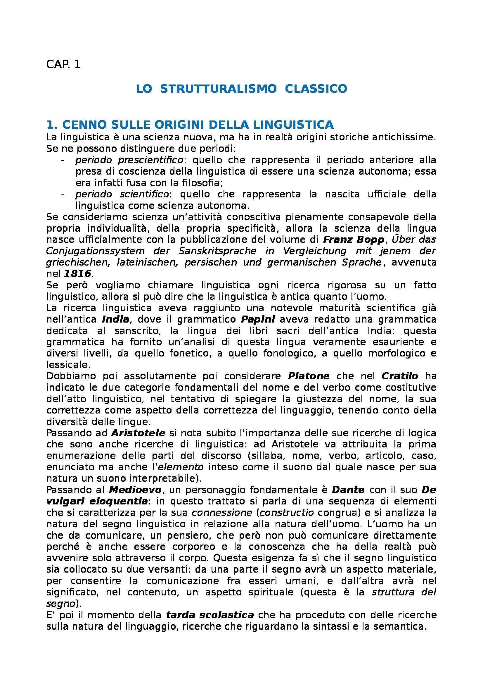 Riassunto esame Linguistica generale, prof. Gatti, libro consigliato Storia della linguistica generale Pag. 2