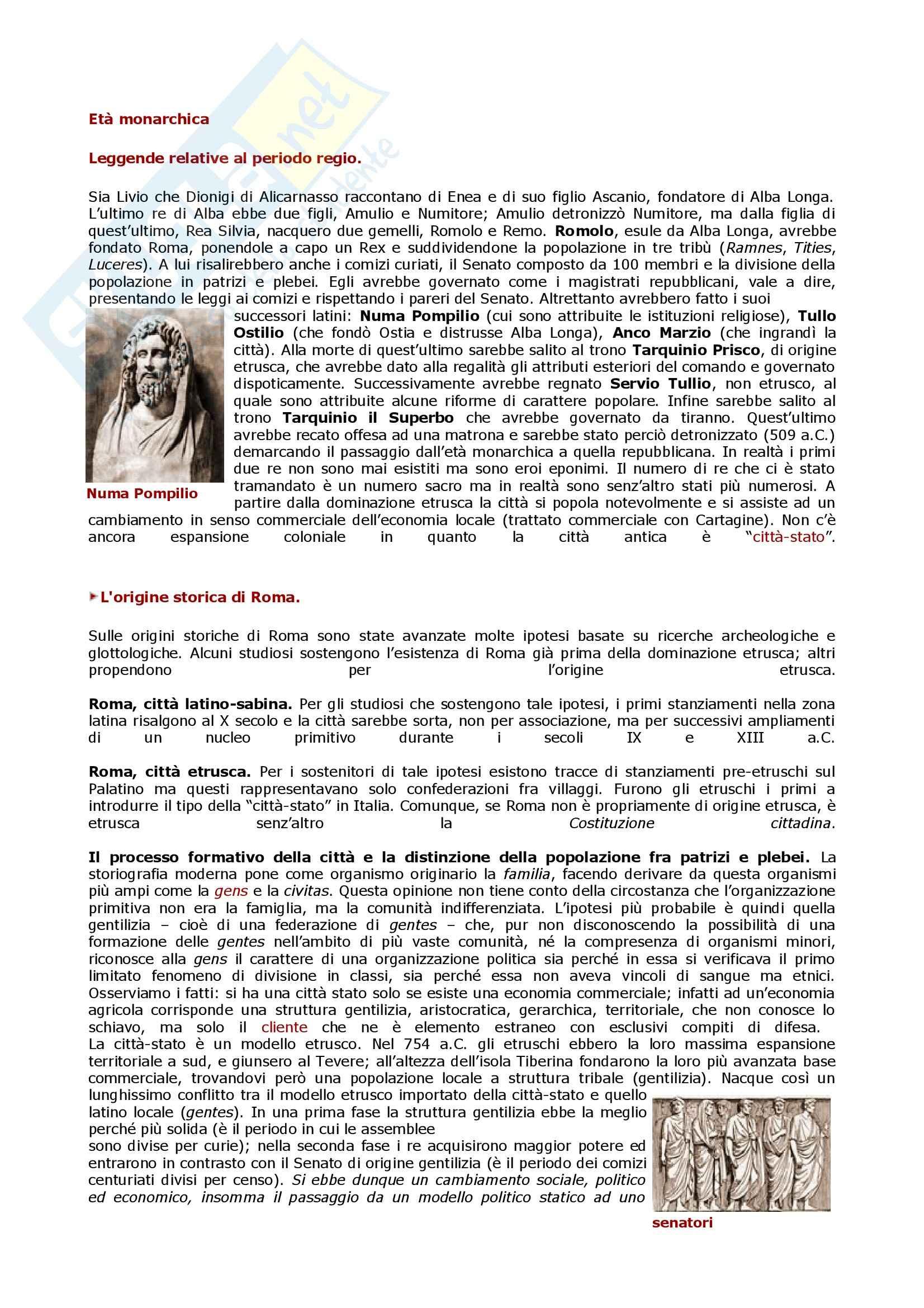 Diritto romano - fondazione di Roma Pag. 1