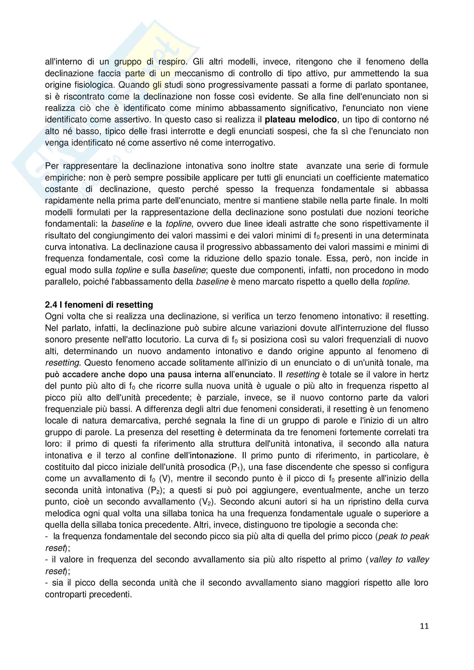 Riassunto esame Linguistica generale, prof. Sorianello, libro consigliato Prosodia, Sorianello Pag. 11