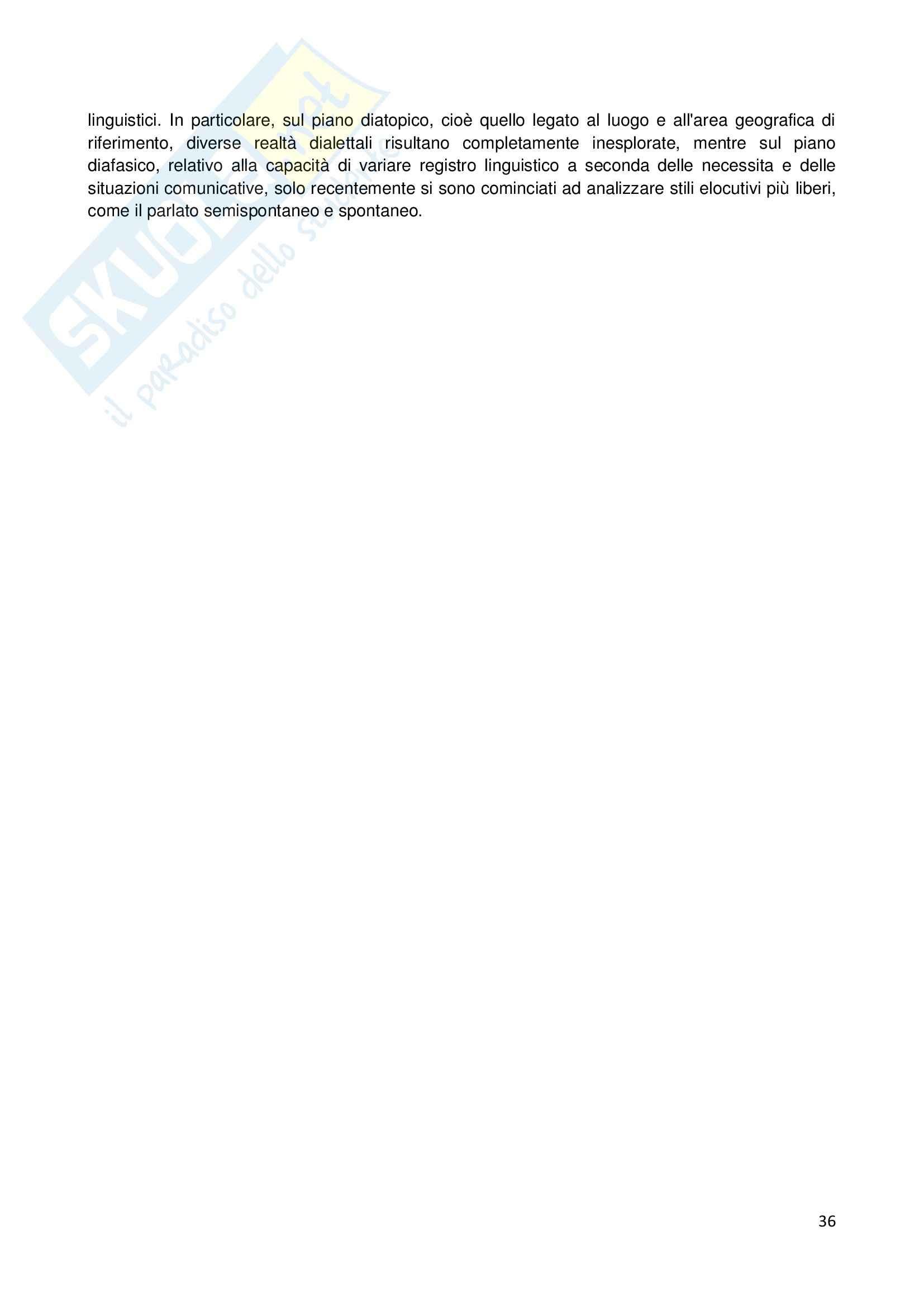 Riassunto esame Linguistica generale, prof. Sorianello, libro consigliato Prosodia, Sorianello Pag. 36