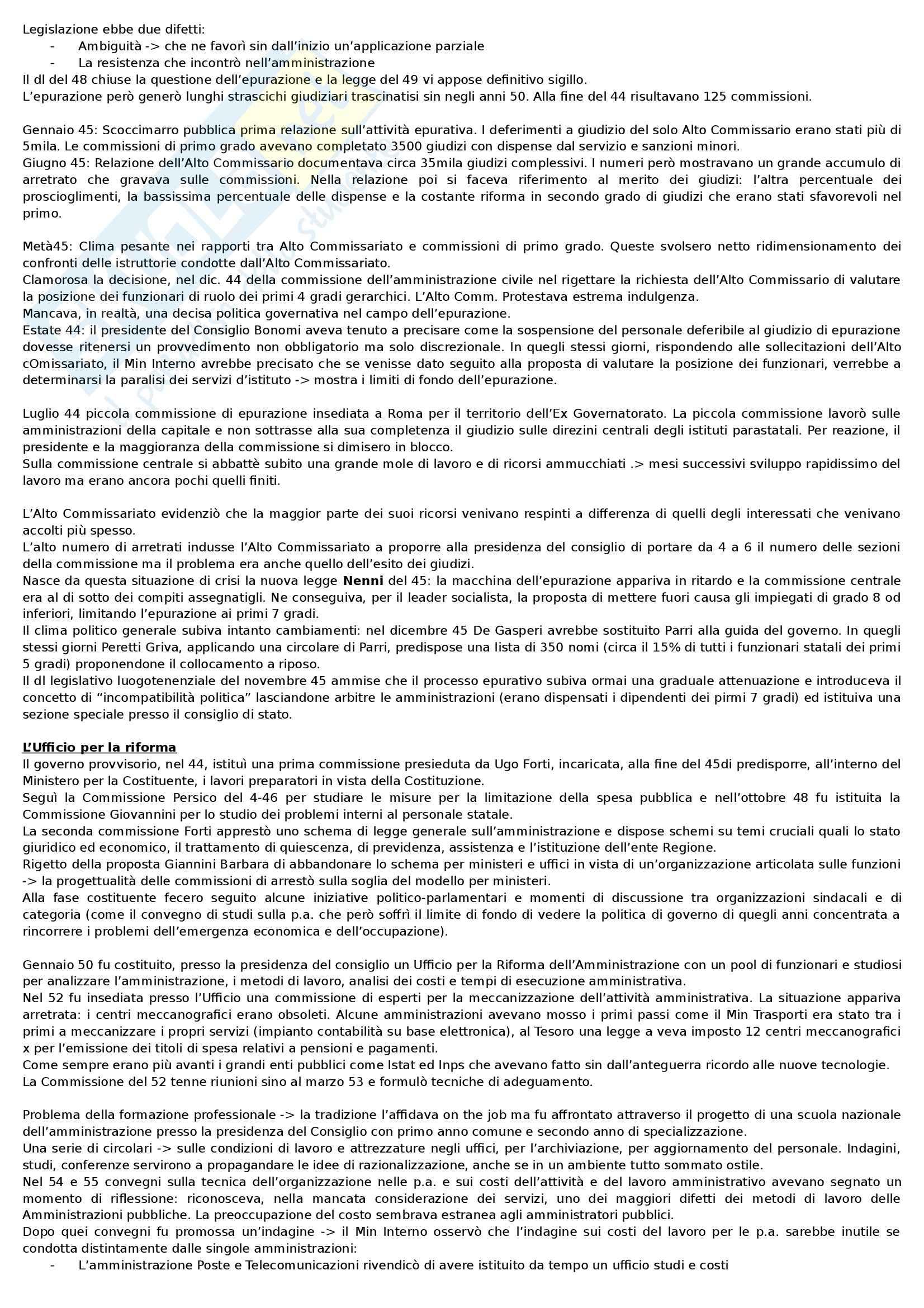 Riassunto esame Storia dell'amministrazione pubblica, prof. Meniconi, libro consigliato Storia dell'Amministrazione Pubblica, Melis Pag. 16