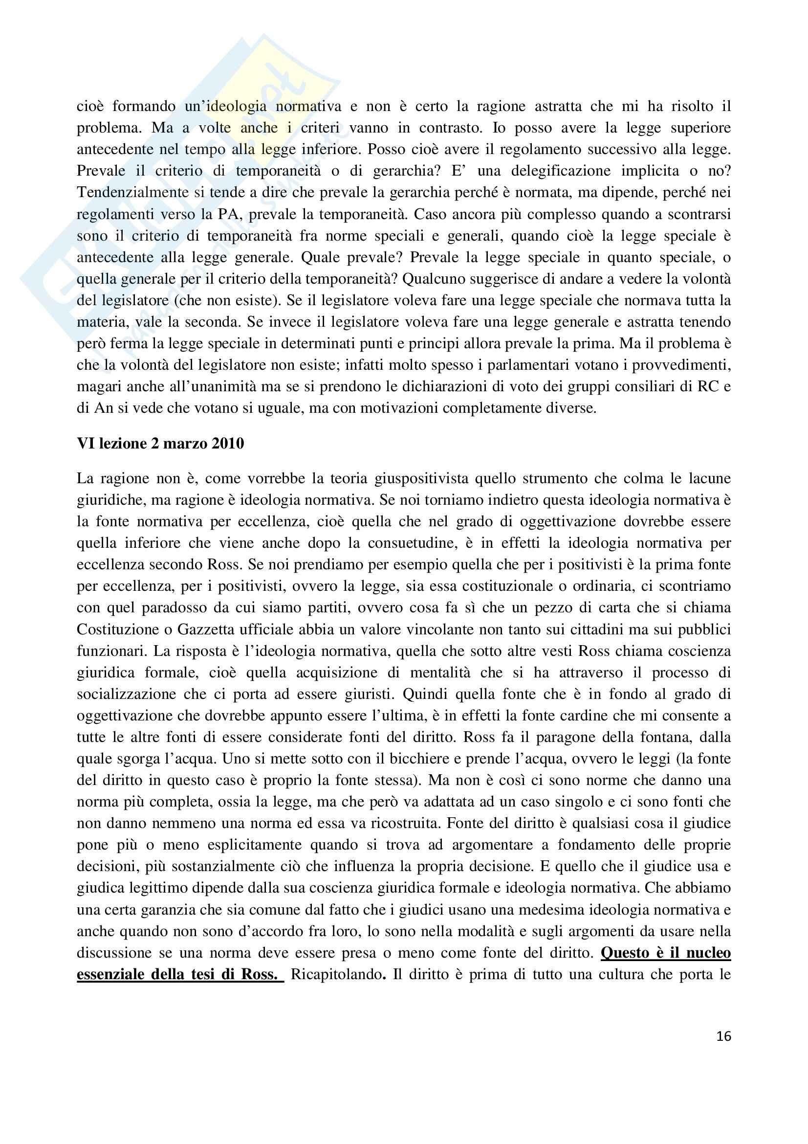 Riassunto esame Filosofia del diritto, prof. Santoro, libro consigliato Filosofia del diritto, Ross Pag. 16