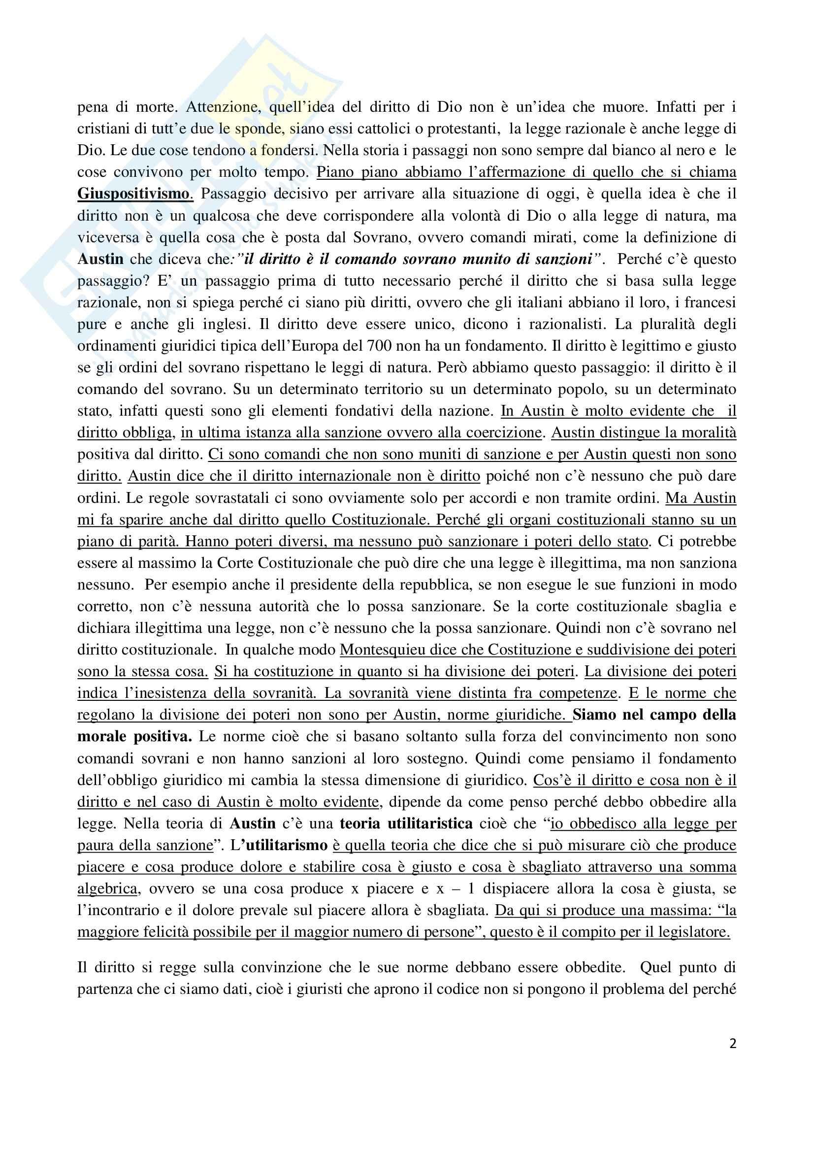 Riassunto esame Filosofia del diritto, prof. Santoro, libro consigliato Filosofia del diritto, Ross Pag. 2