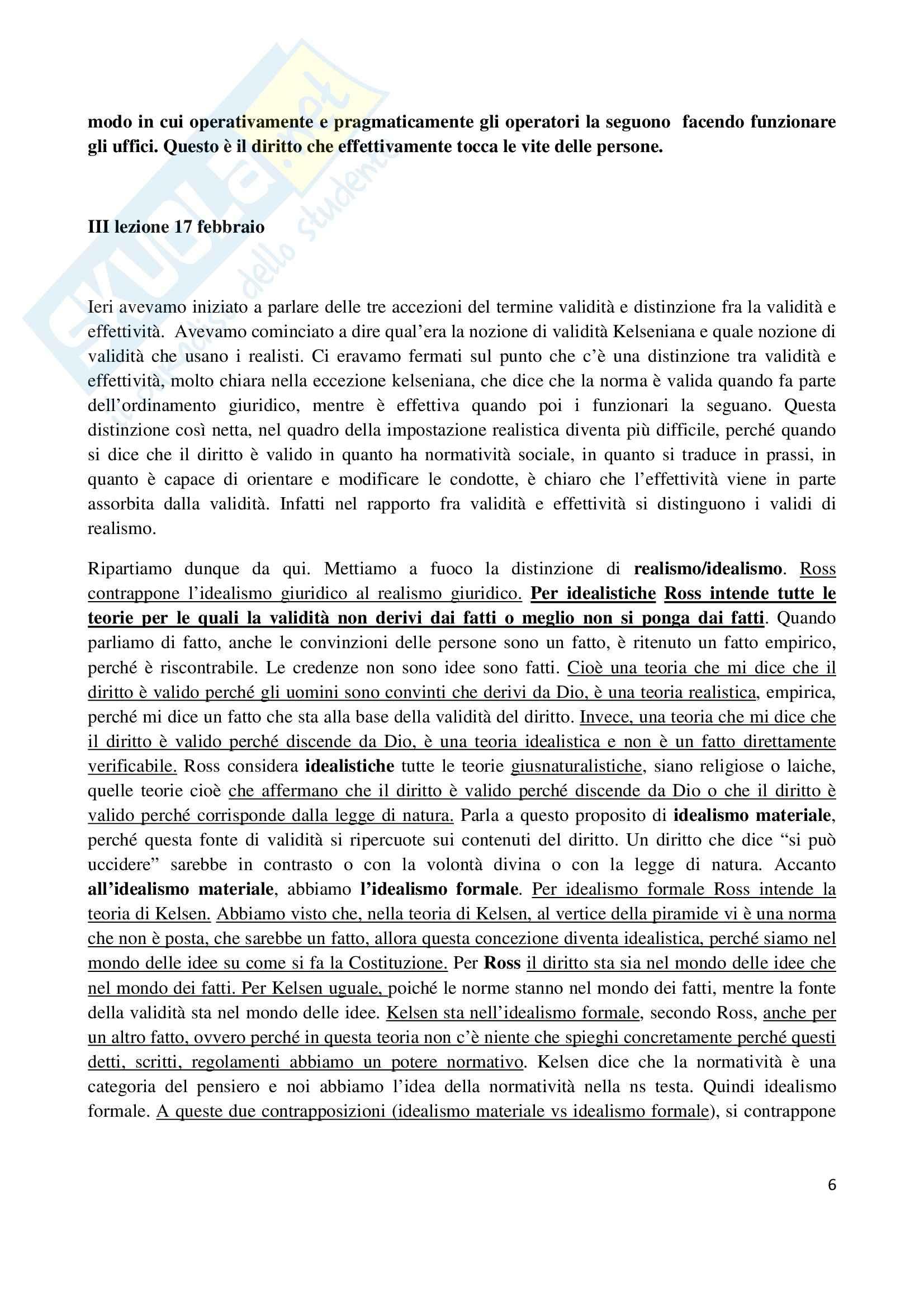 Riassunto esame Filosofia del diritto, prof. Santoro, libro consigliato Filosofia del diritto, Ross Pag. 6