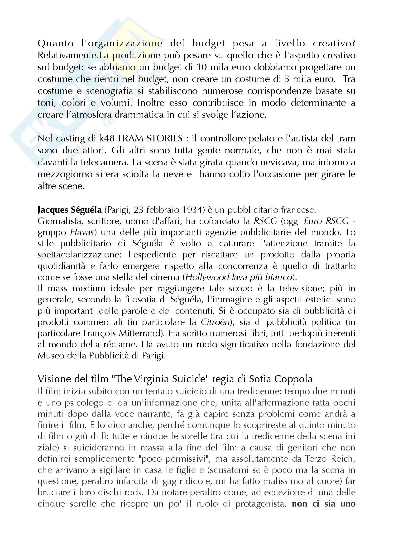 Appunti di Regia Pubblicitaria Pag. 11
