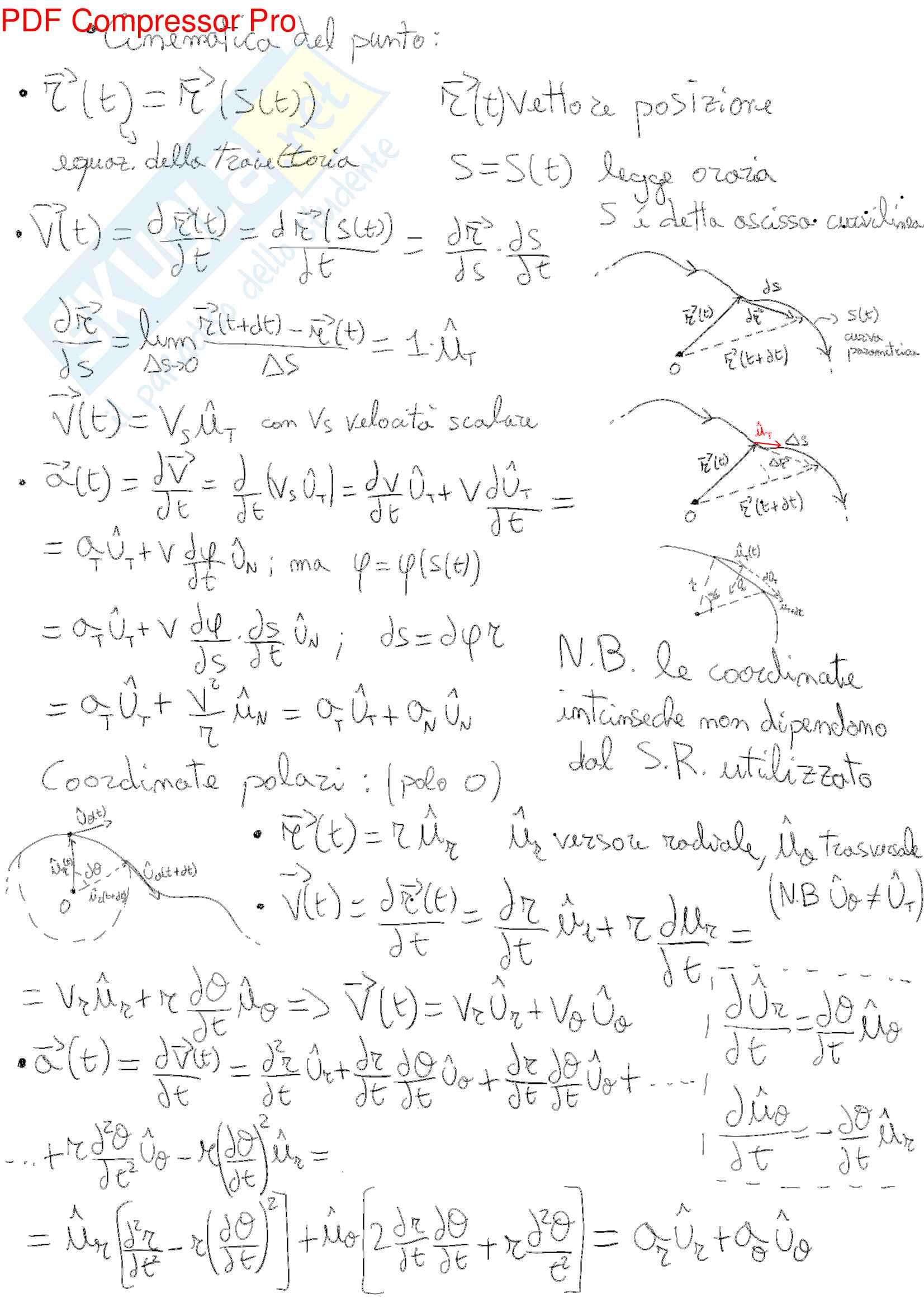 Appunti Lezioni prof.Laviano Fisica I