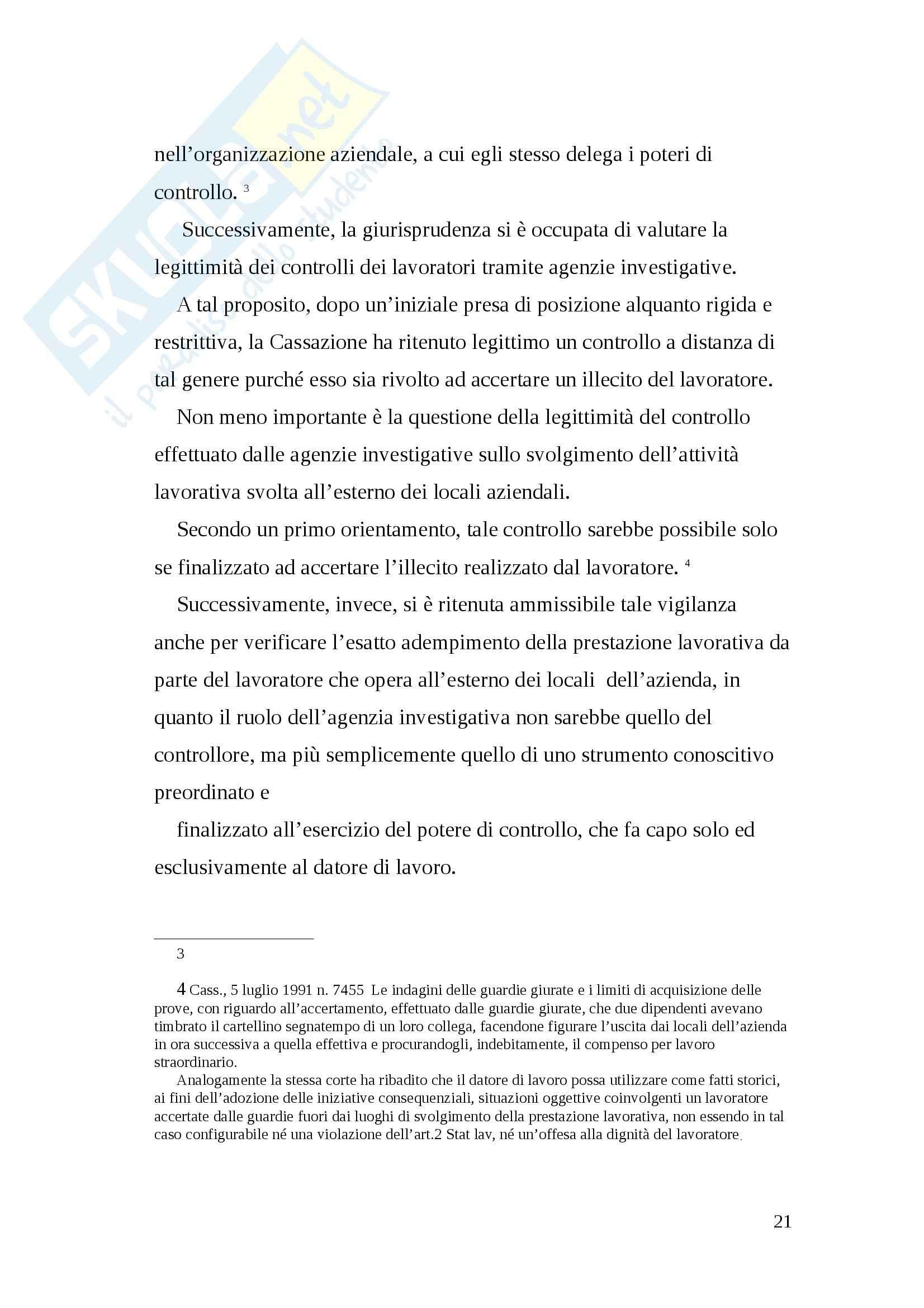 Tesi diritto del lavoro Pag. 21