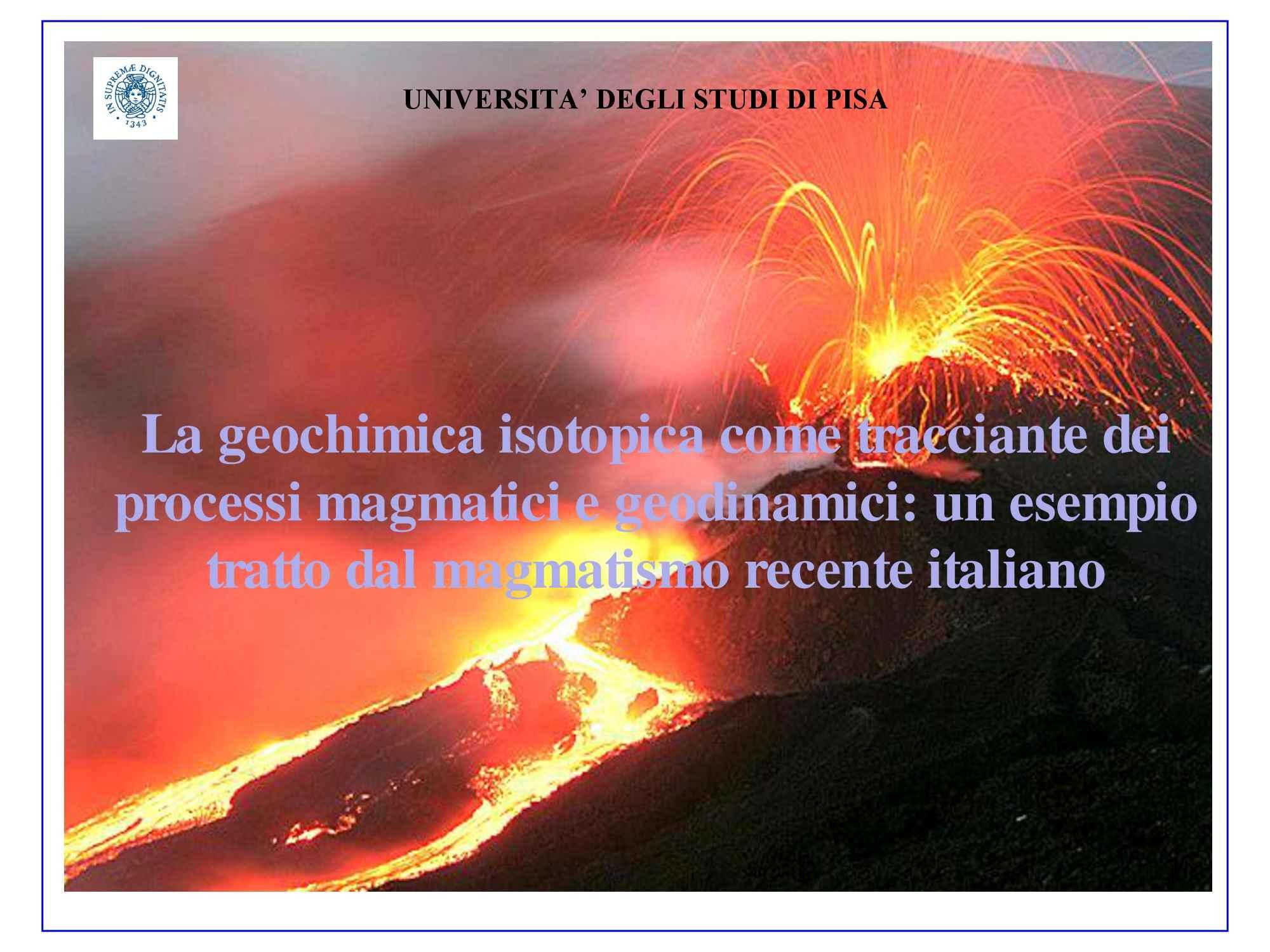 Magmatismo recente in Italia