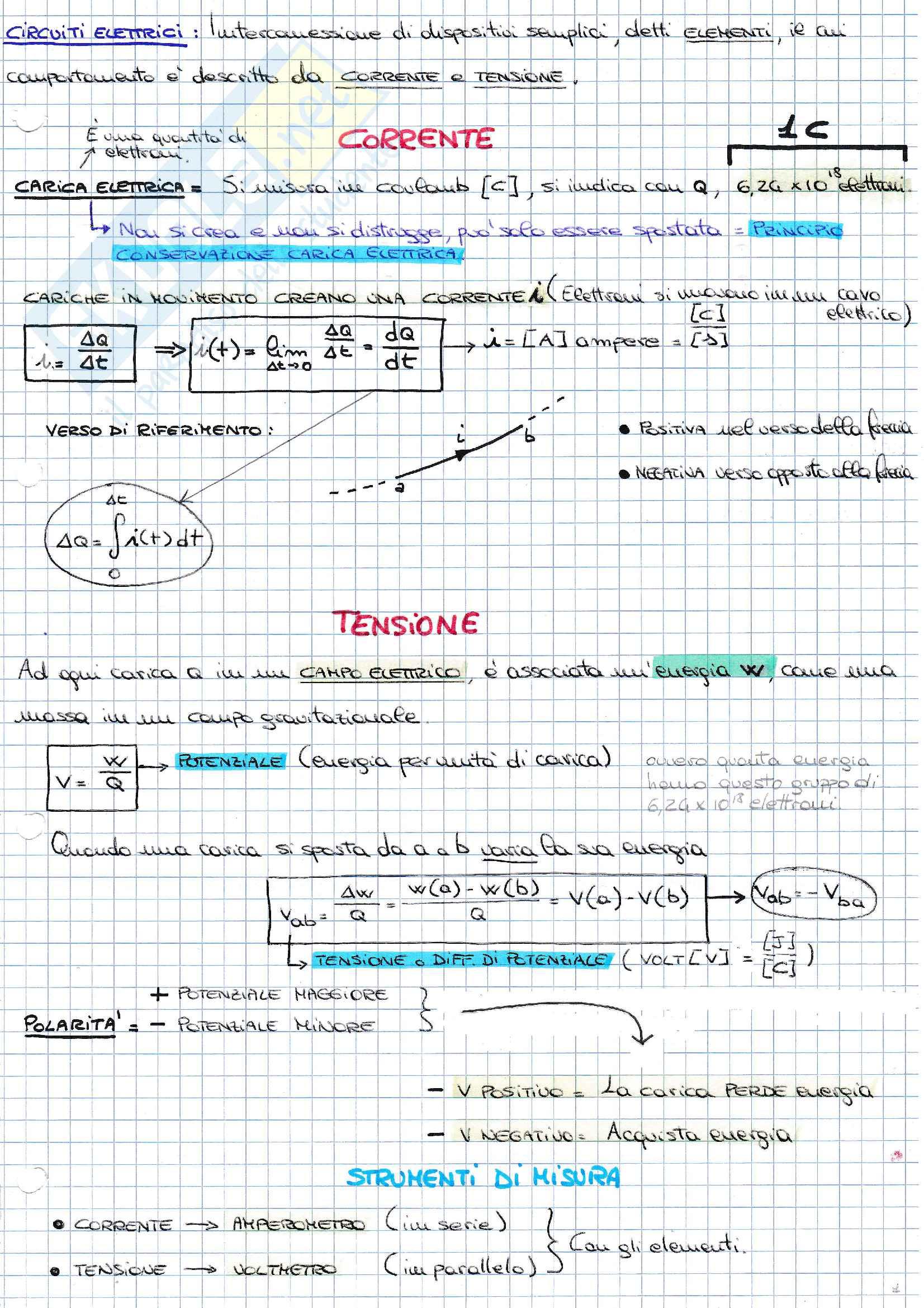 Appunti elaborati teoria Principi ing. elettrica