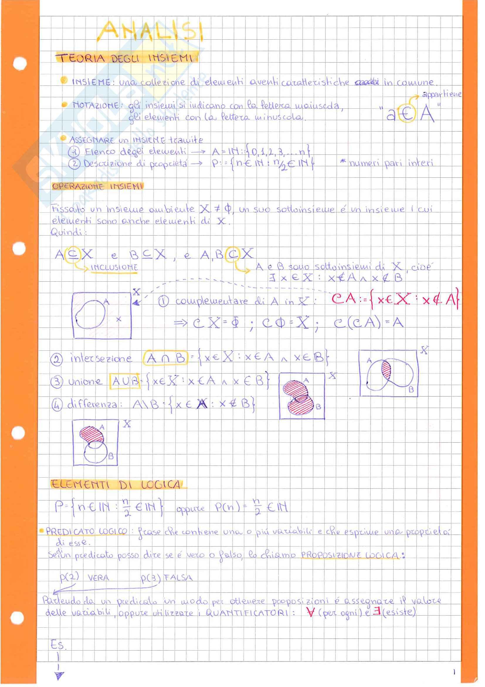 appunto E. Berchio Analisi matematica 1