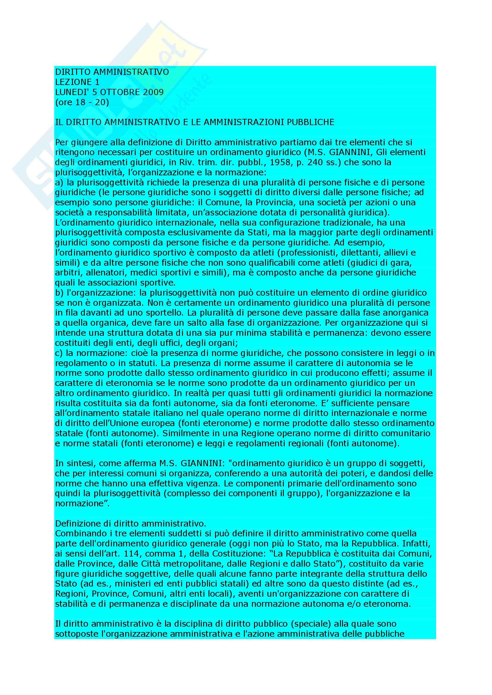 Diritto amministrativo - nozioni