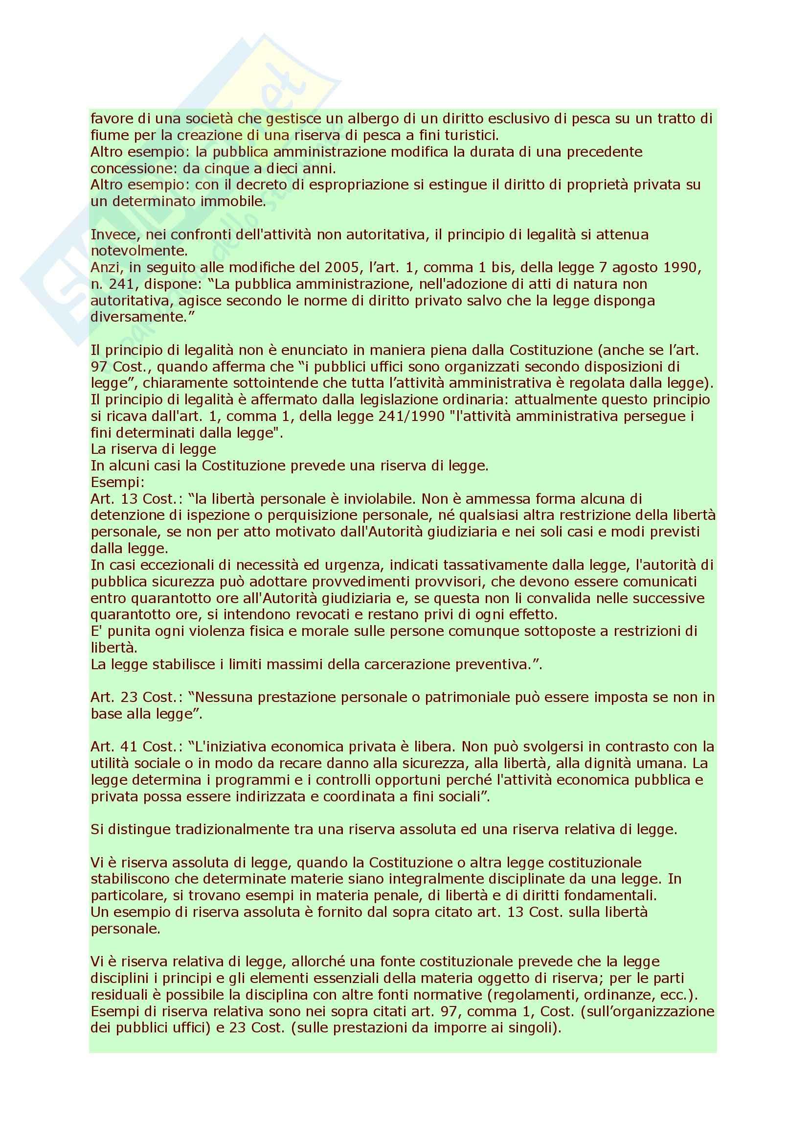 Diritto amministrativo - nozioni Pag. 16