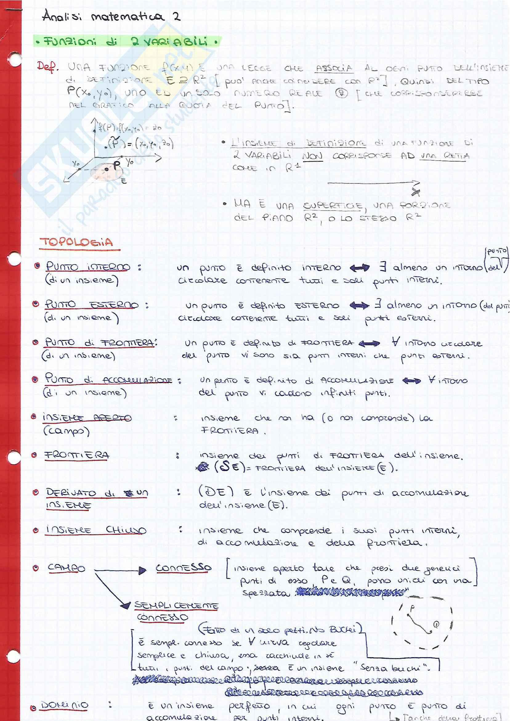 appunto B. Germano Analisi matematica II