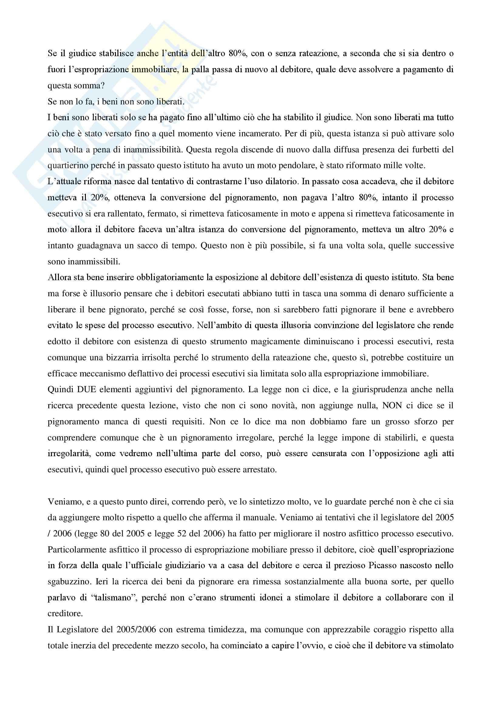 PROCEDURA CIVILE - Processo di esecuzione ex libro III CPC Pag. 31