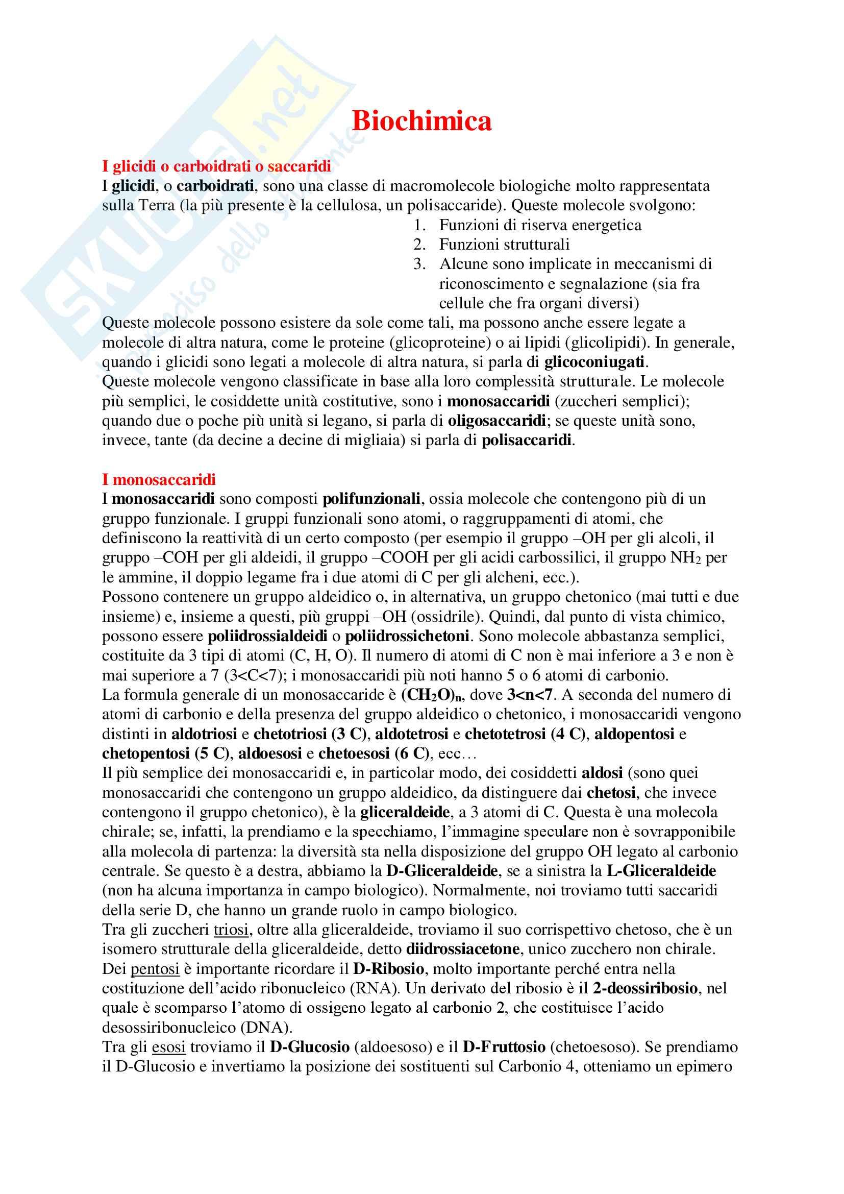 Chimica Organica (Biochimica) - Appunti Completi