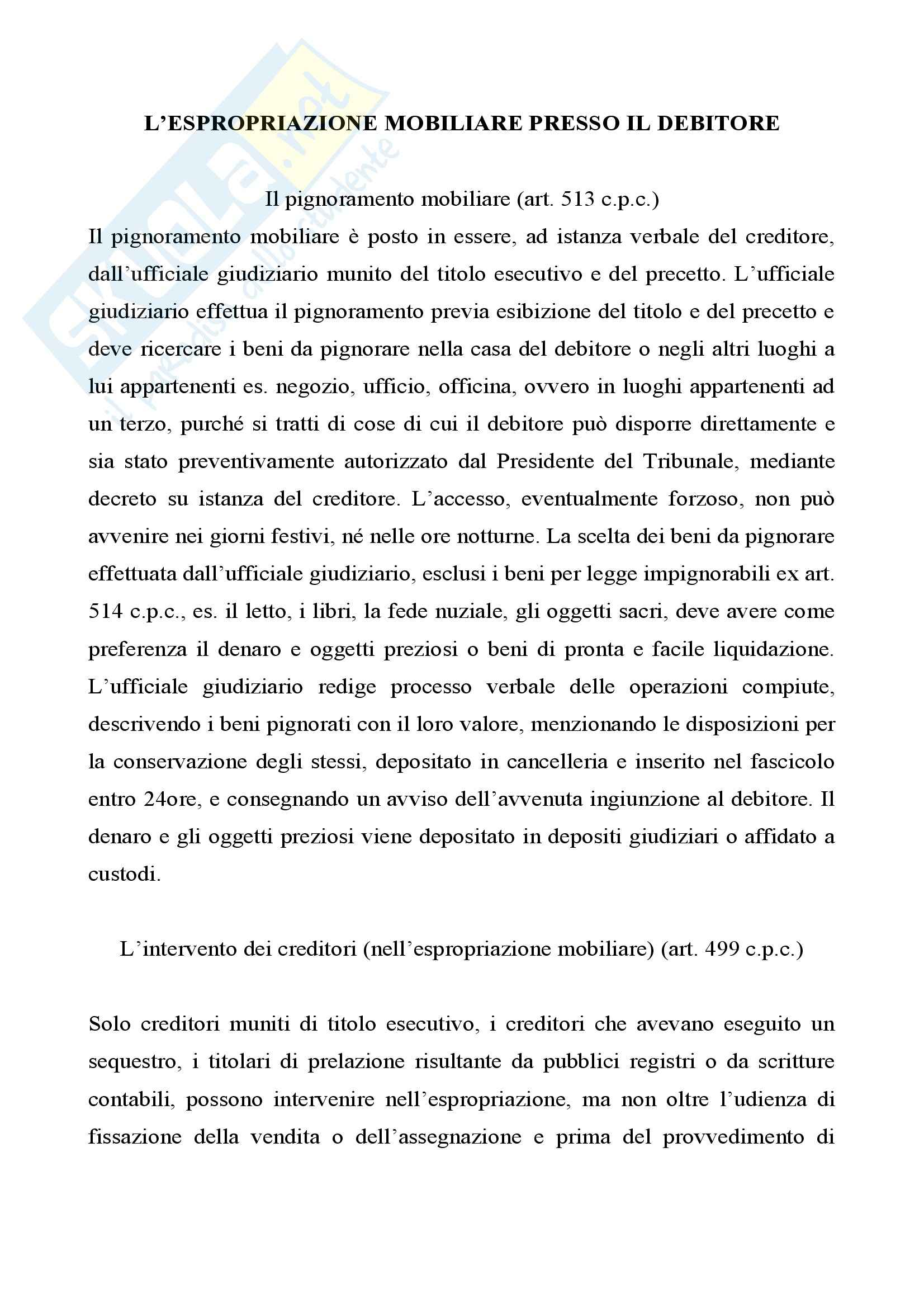 Diritto processuale civile - l'esecuzione per consegna o rilascio Pag. 6