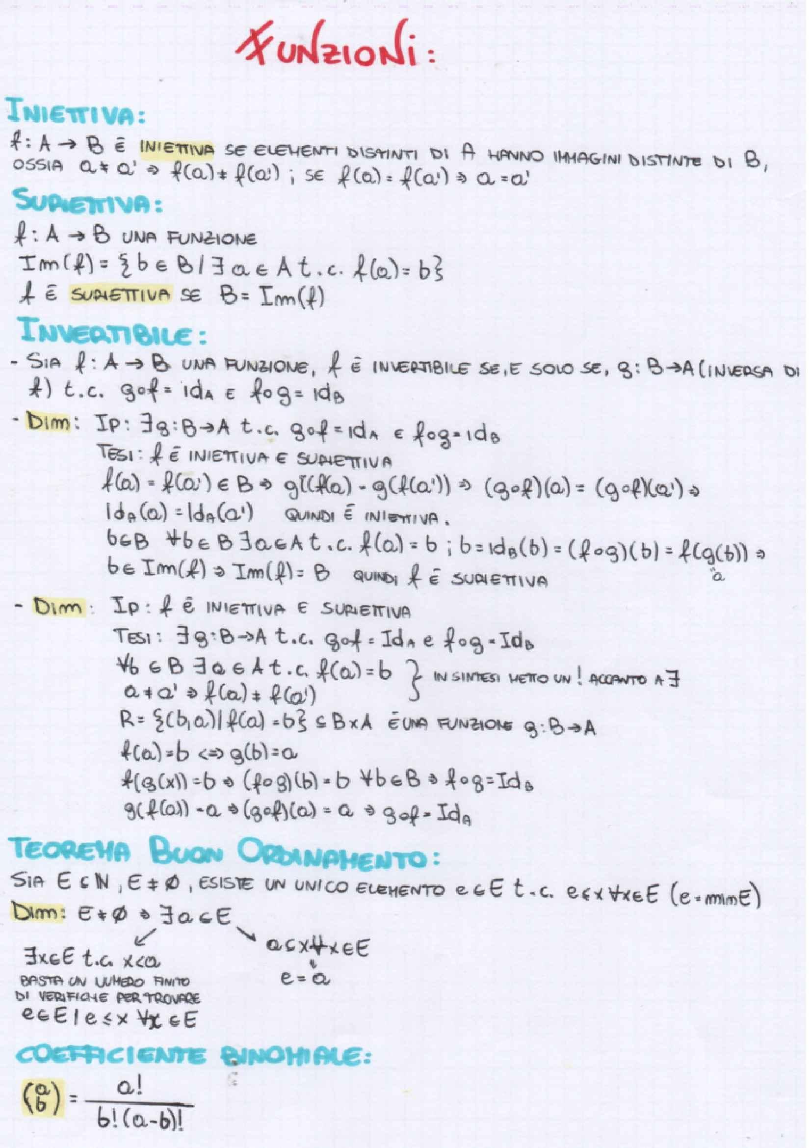Analisi  e geometria 1 - teoria e Formulario
