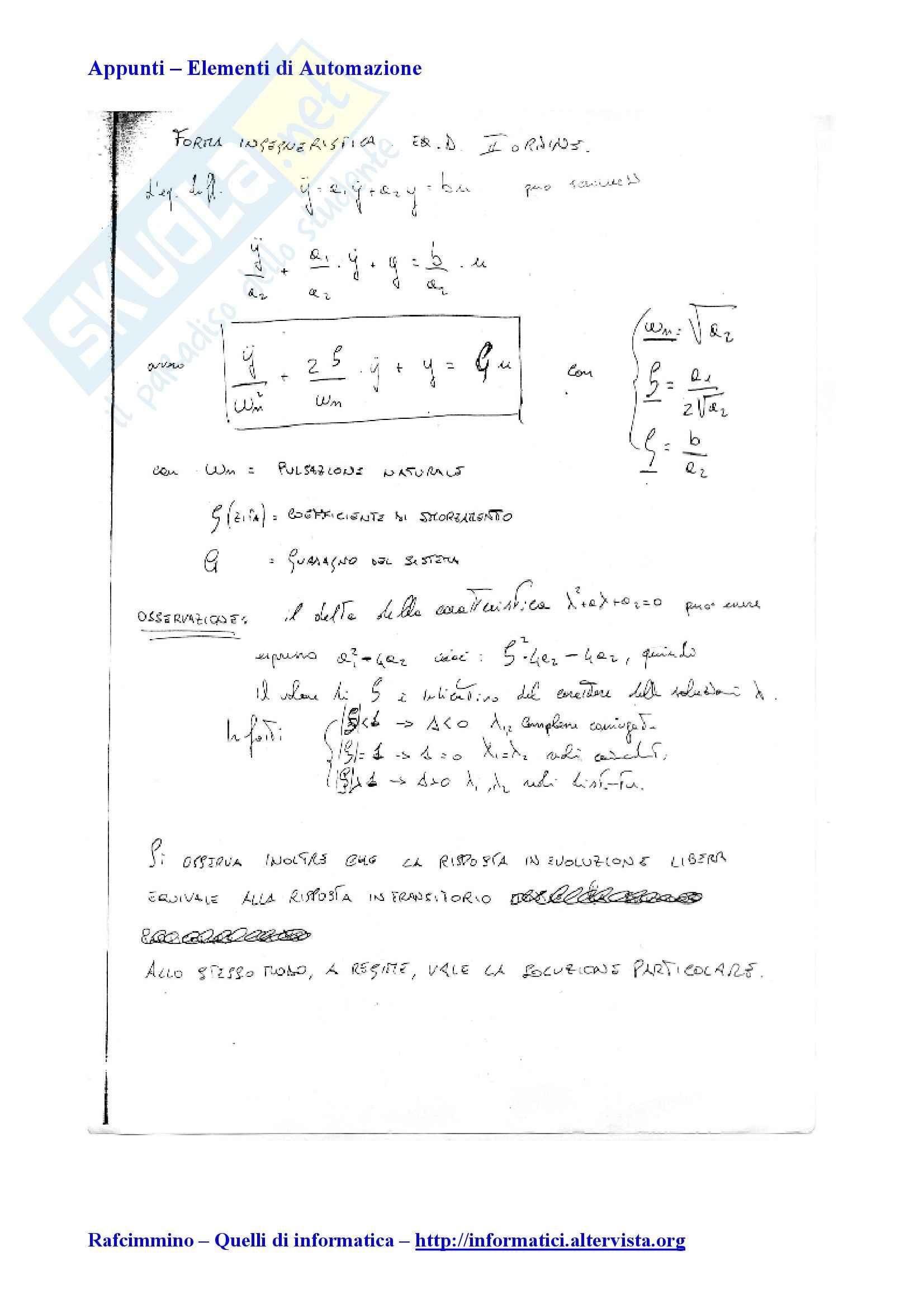 Elementi di automatica - la forma ingegneristica