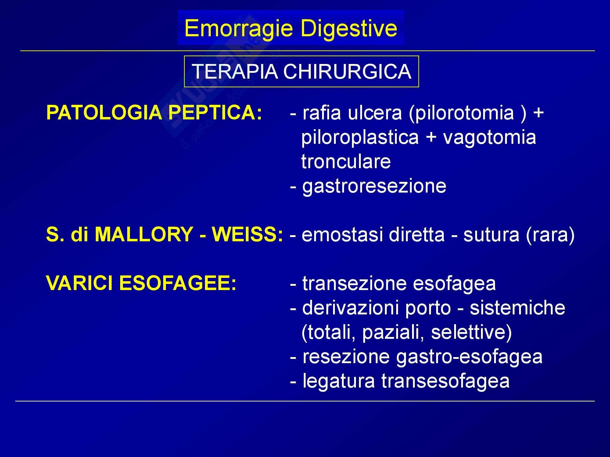 Chirurgia generale - emorragie digestive Pag. 41