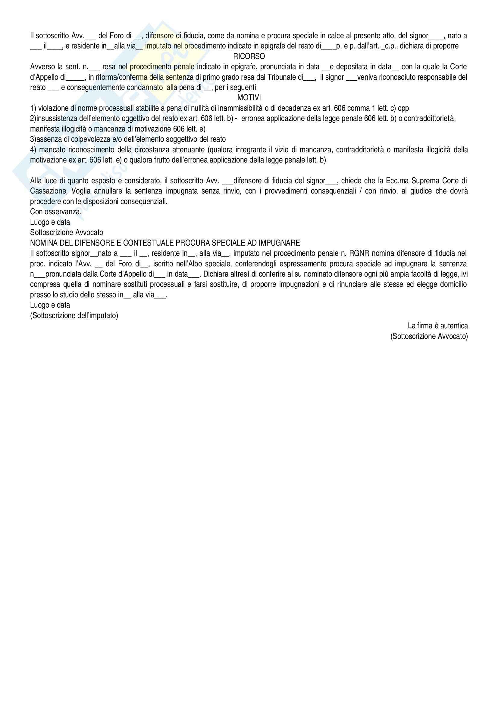 Procedura penale - schema realizzazione atti Pag. 11