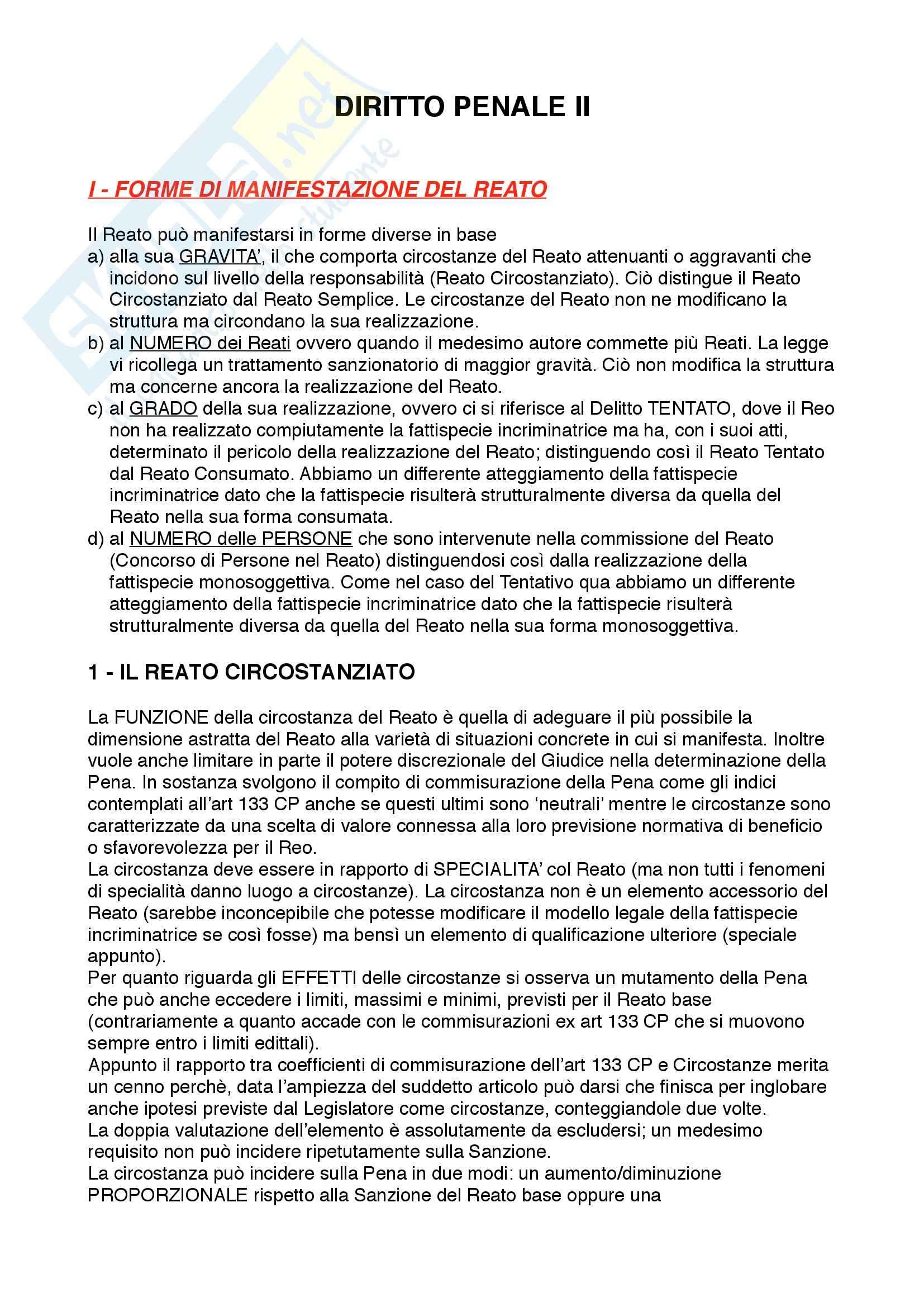 appunto G. De Francesco Diritto penale