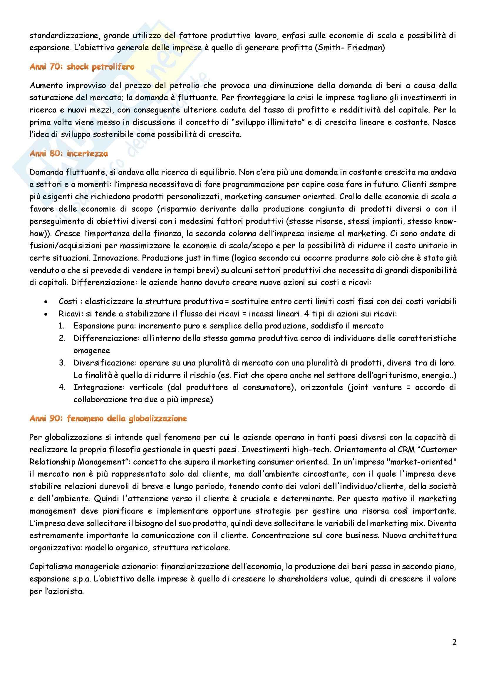 Lezioni economia e direzioni delle imprese Tardivo Santoro Pag. 2