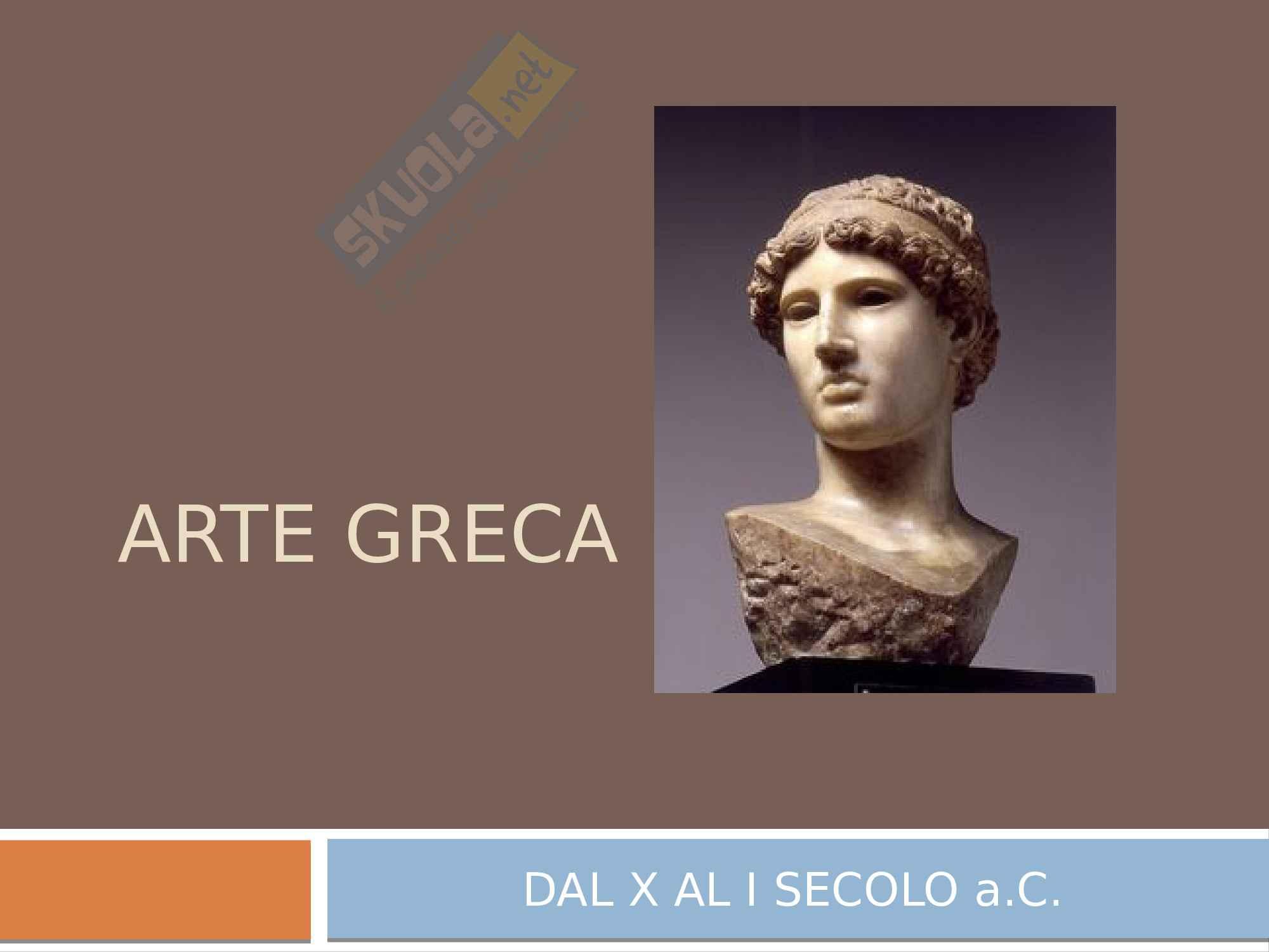 Aspetti e caratteristiche dell'arte greca