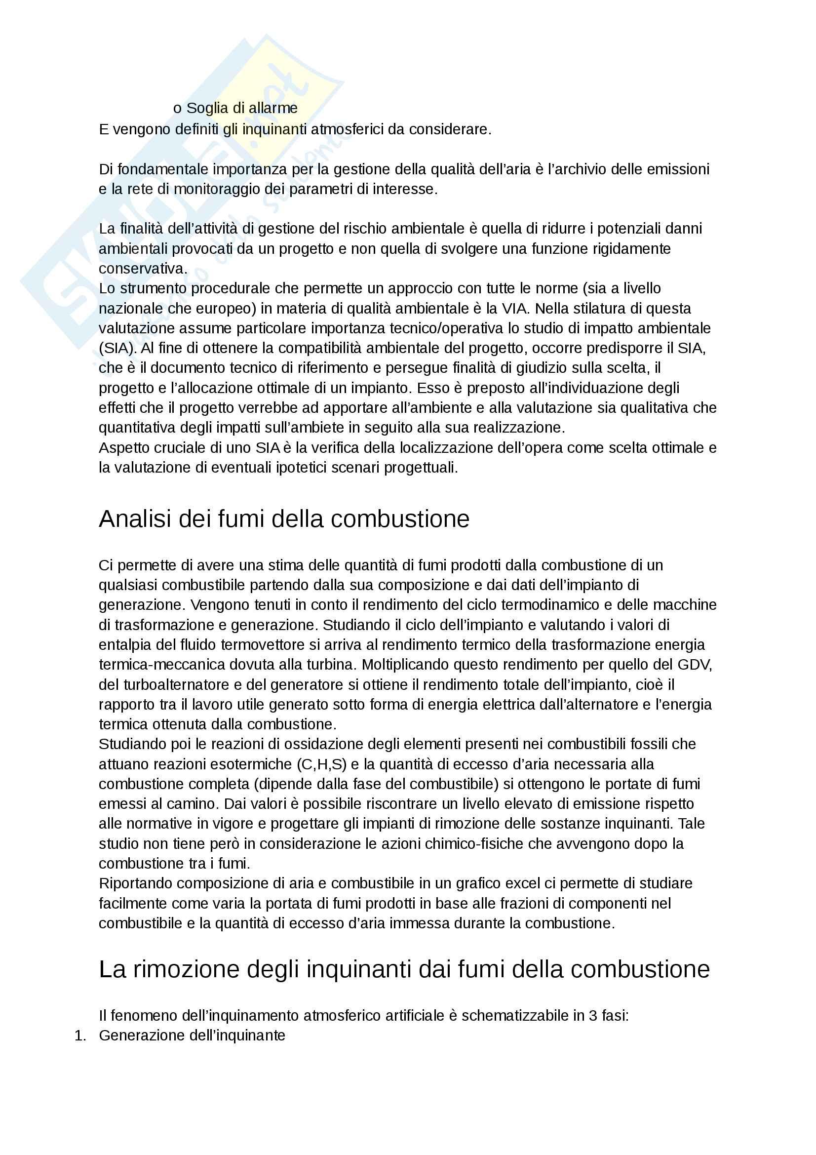 appunti di sicurezza e impatto ambientale dei sistemi energetici Pag. 11