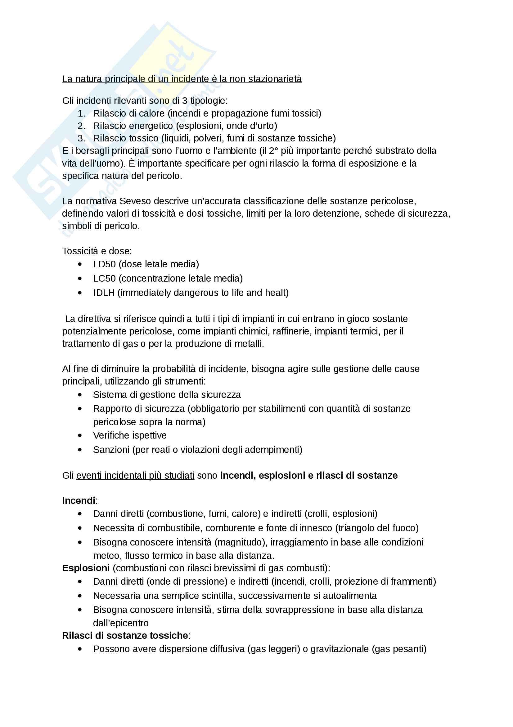 appunti di sicurezza e impatto ambientale dei sistemi energetici Pag. 26