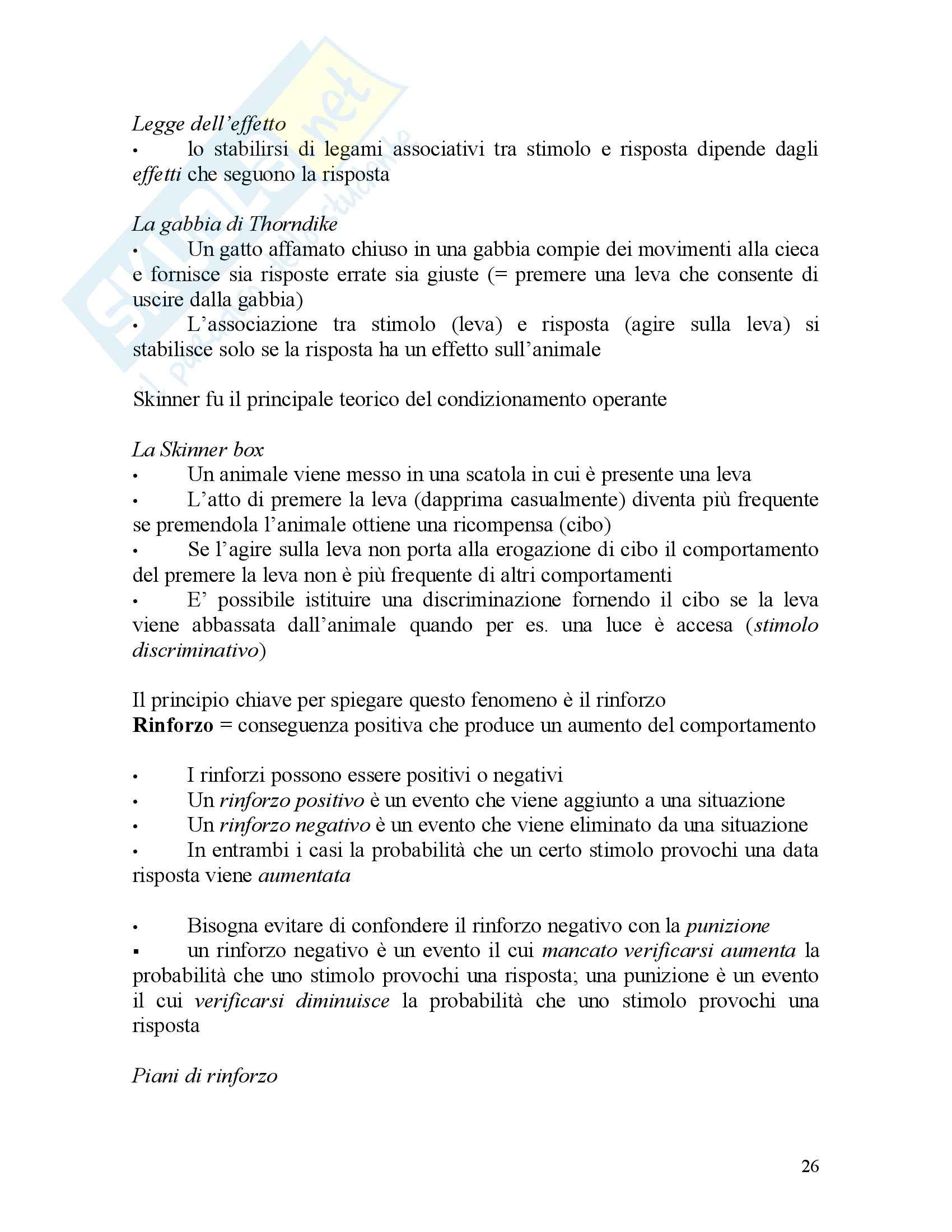Psicologia dei processi cognitivi Pag. 26