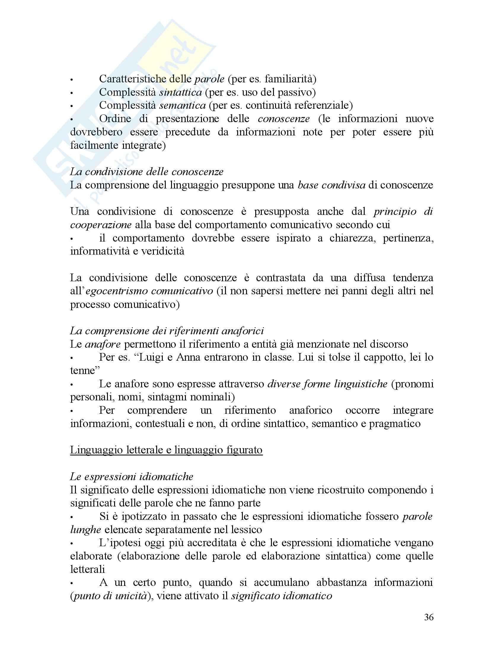 Psicologia dei processi cognitivi Pag. 36