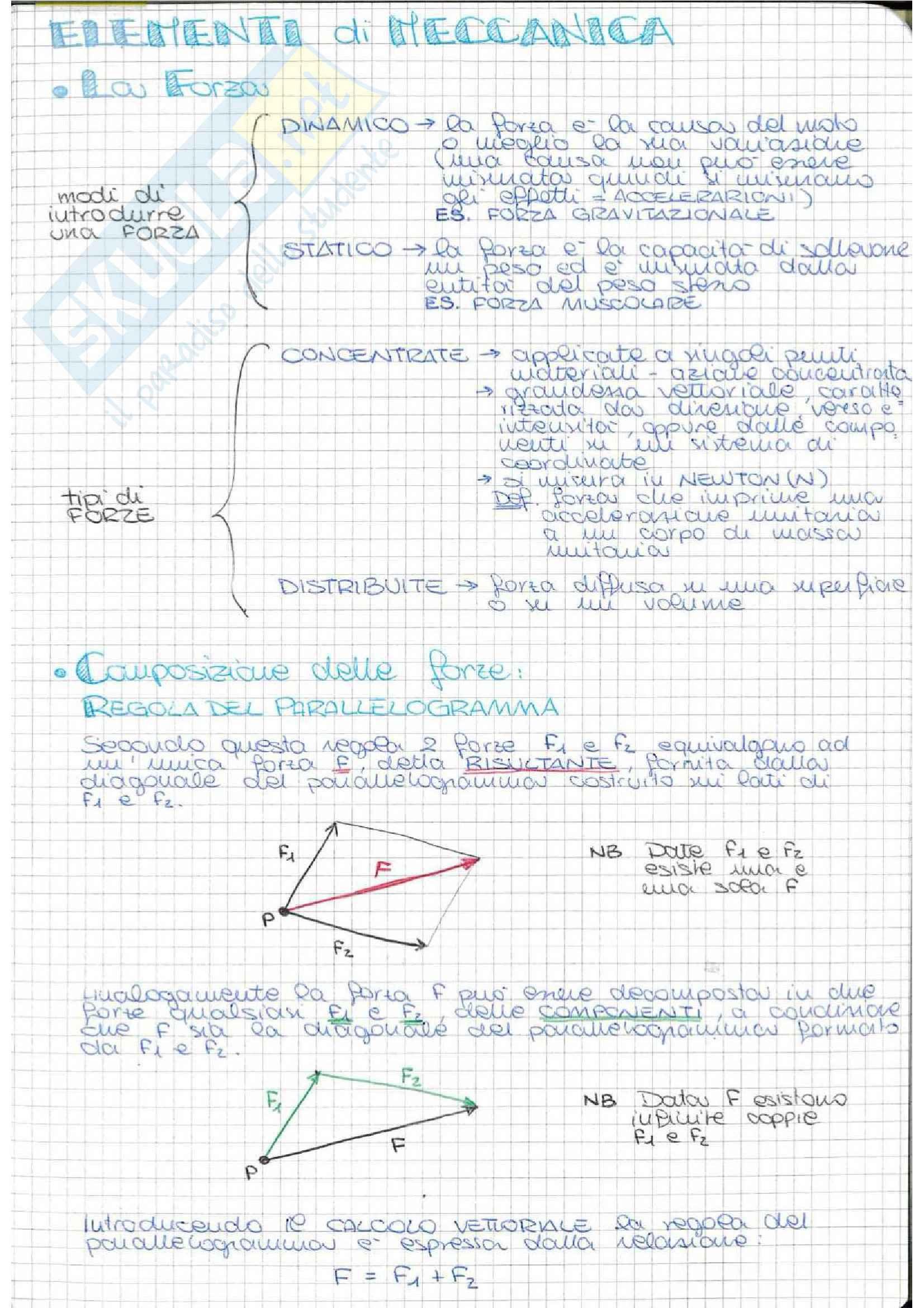 Riassunto esame Statica, prof De Angelis, prof. De Angelis, libro consigliato Statica piana dei corpi rigidi, Capecchi
