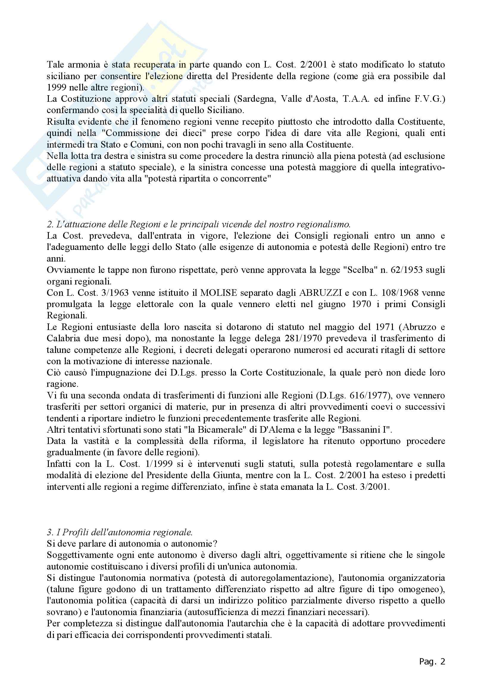 Diritto regionale - Appunti Pag. 2