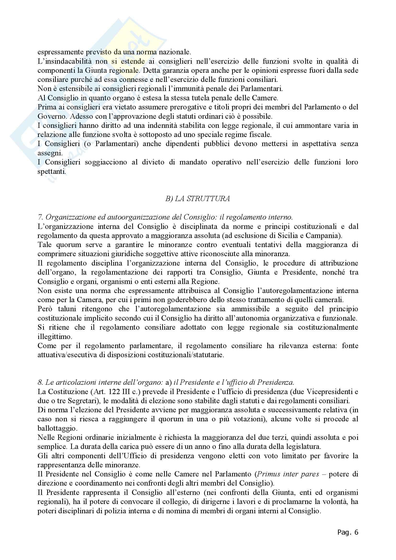 Diritto regionale - Appunti Pag. 6