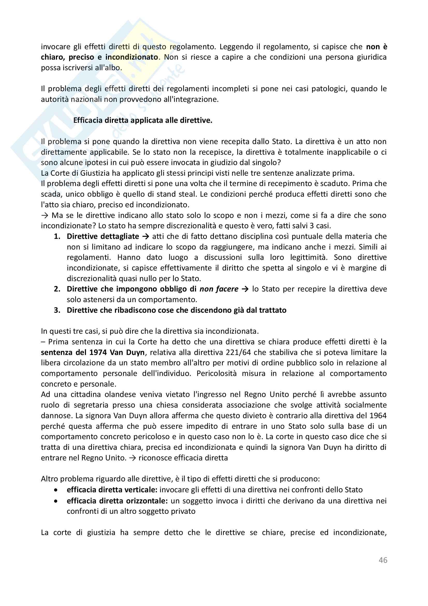 Appunti - Diritto dell'Unione Europea Pag. 46