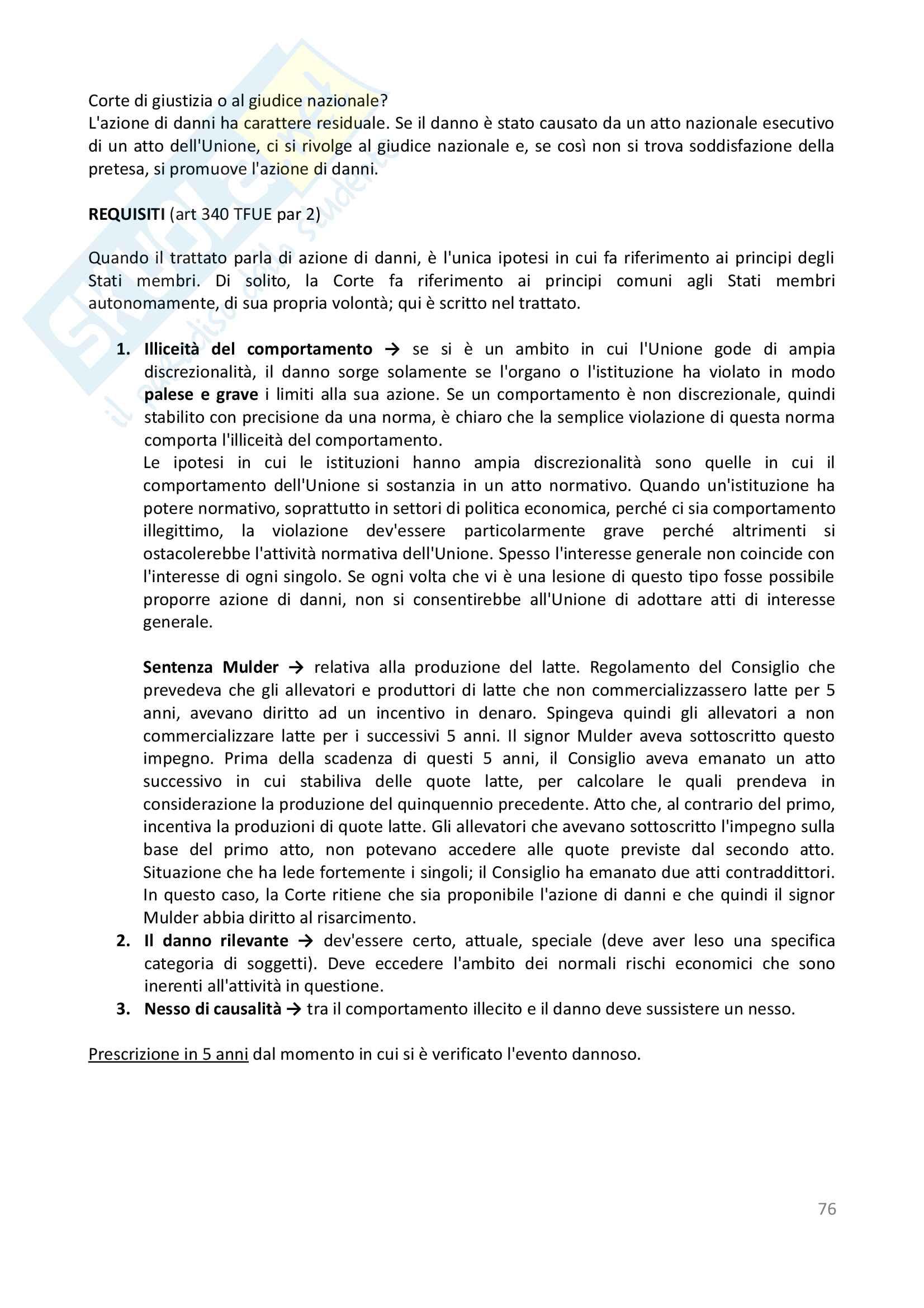 Appunti - Diritto dell'Unione Europea Pag. 76